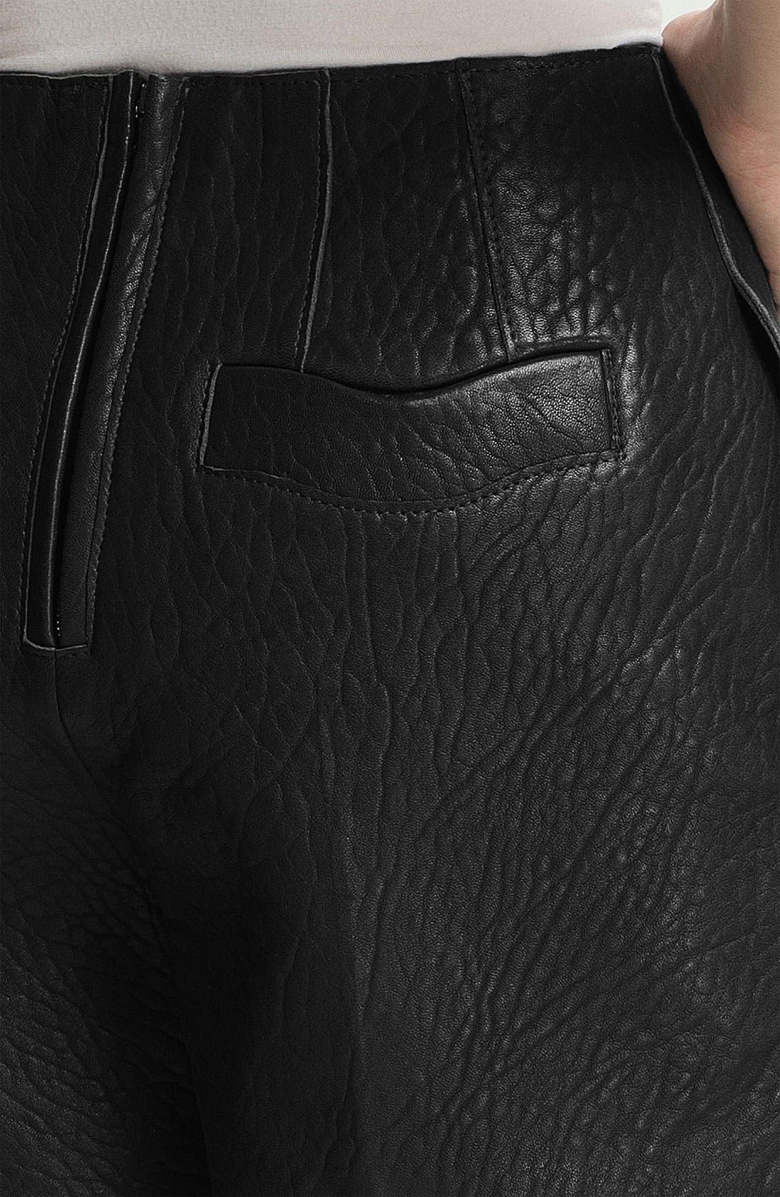 Alternate Image 4  - Carven High Waist Leather Shorts