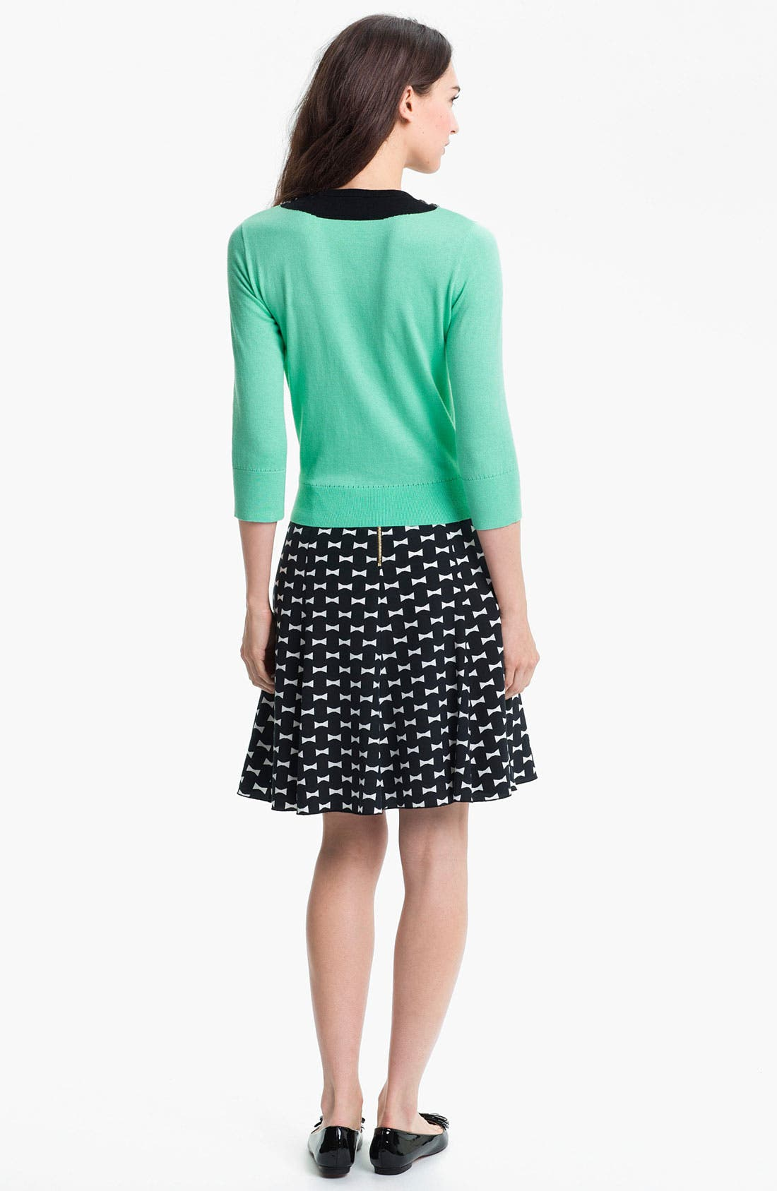 Alternate Image 4  - kate spade new york 'flirt' silk blend skirt