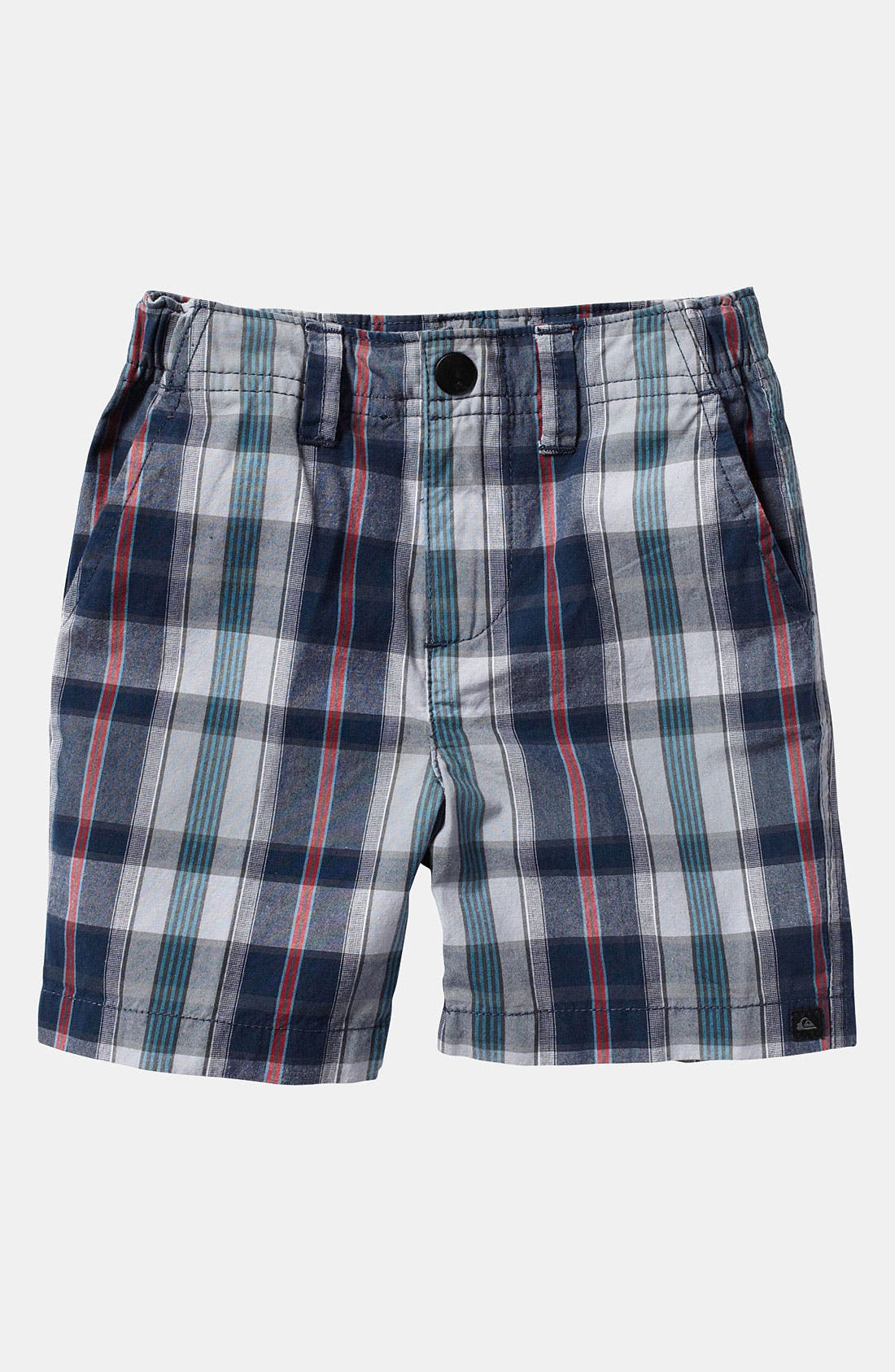 Main Image - Quiksilver 'Bookend' Plaid Shorts (Toddler)