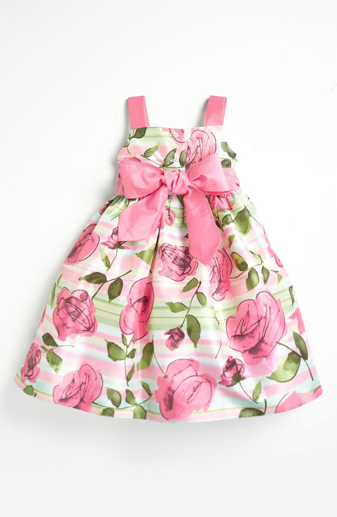 Alternate Image 2  - Pippa & Julie Rose Print Dress (Toddler)