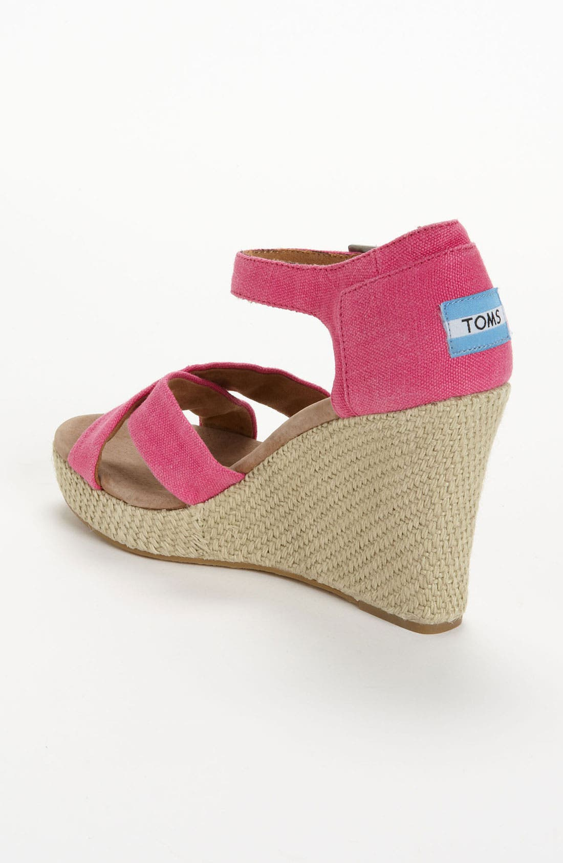 Alternate Image 2  - TOMS Hemp Wedge Sandal