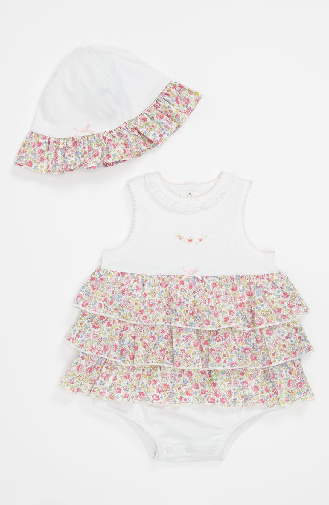 Alternate Image 1 Selected - Little Me 'Blossom' Bodysuit & Hat (Infant)