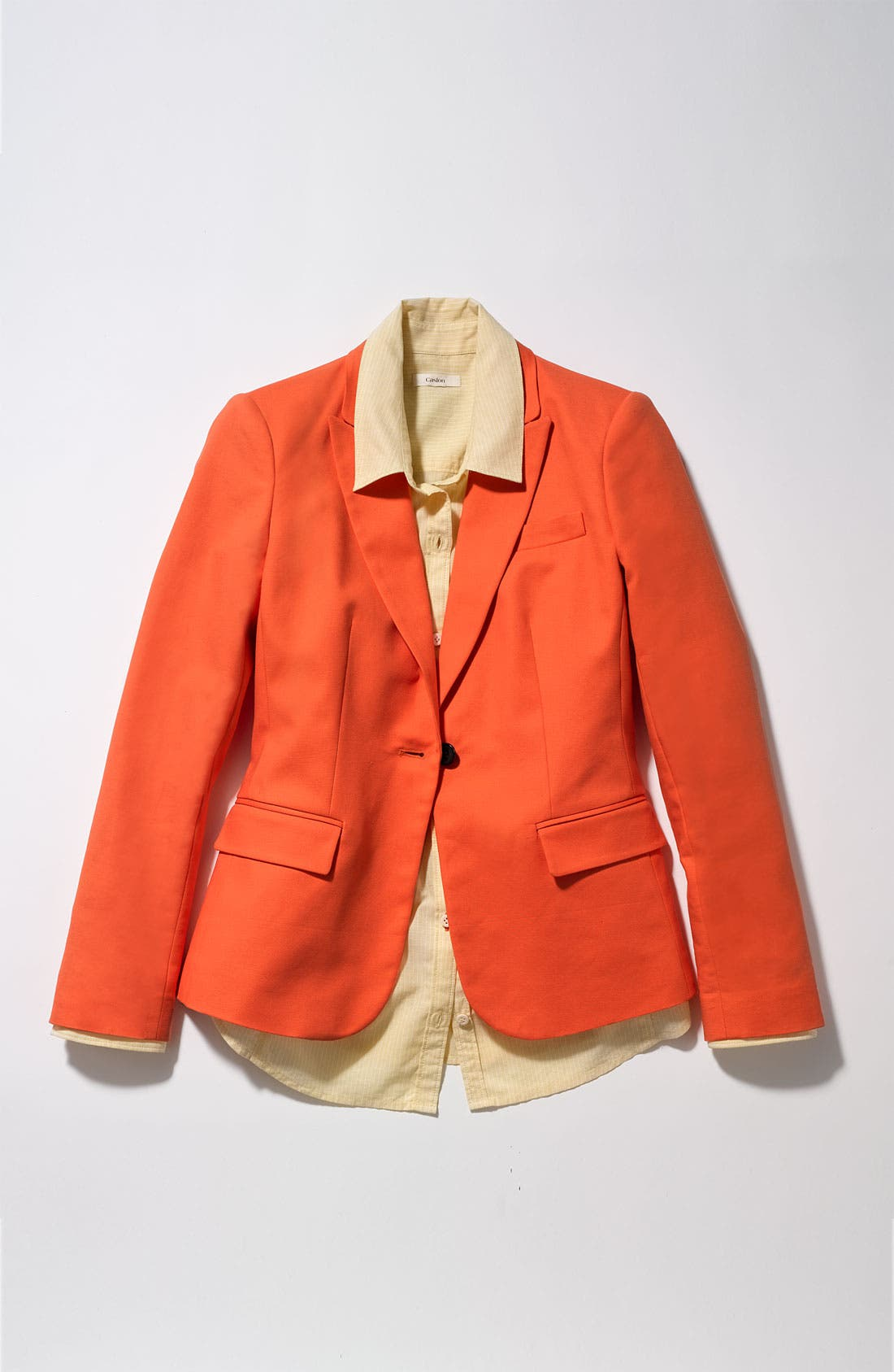 Alternate Image 3  - Vince Camuto One Button Blazer (Petite)