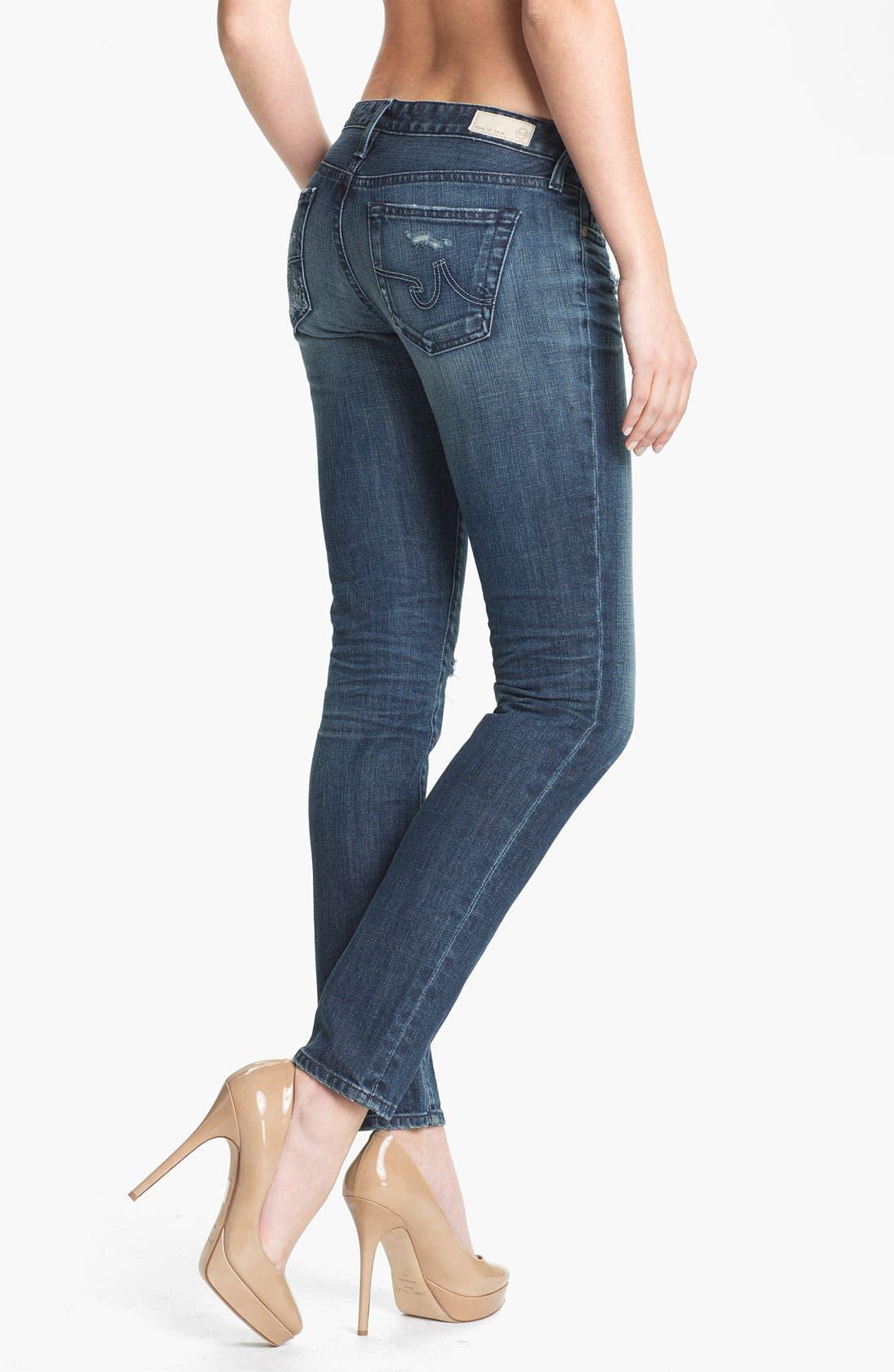 Alternate Image 2  - AG Jeans 'The Stilt' Cigarette Leg Stretch Jeans (7 Year Destroy)