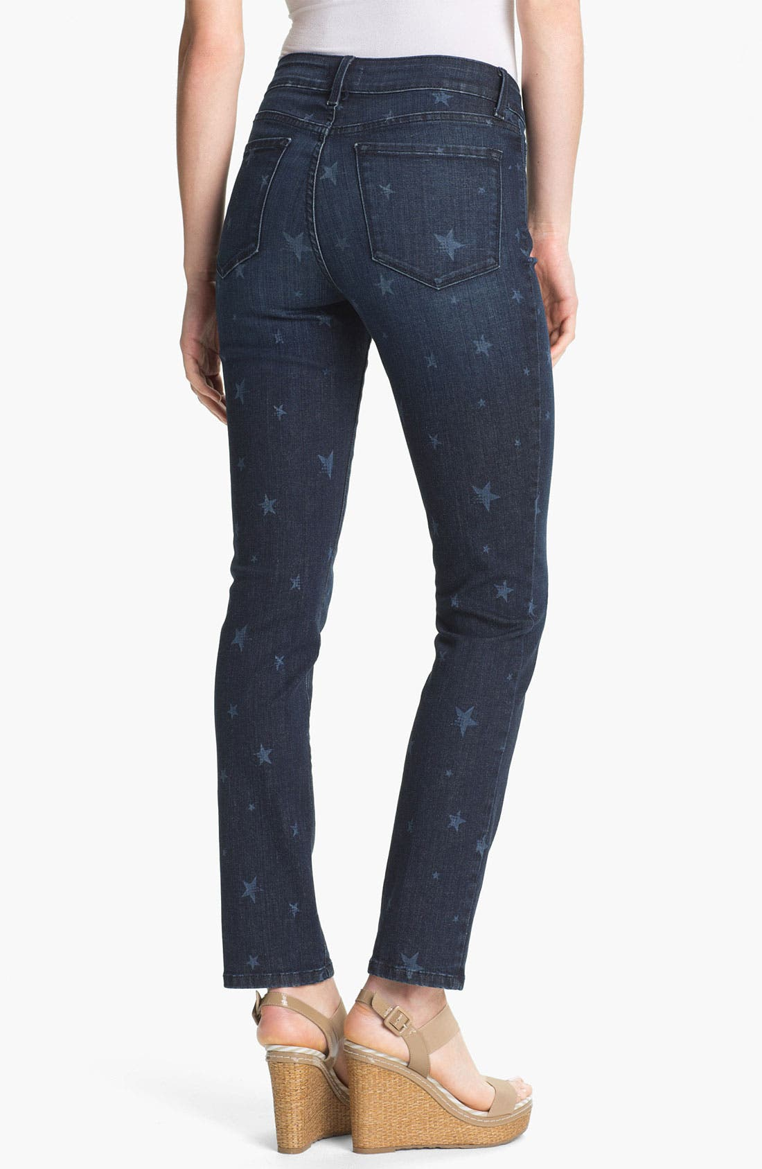 Alternate Image 2  - NYDJ 'Sheri' Star Print Skinny Jeans