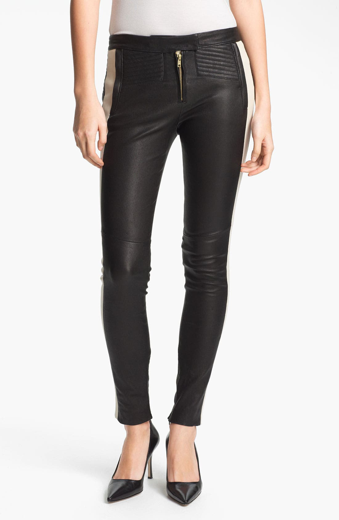 Alternate Image 1 Selected - A.L.C. 'Hendon' Leather Pants