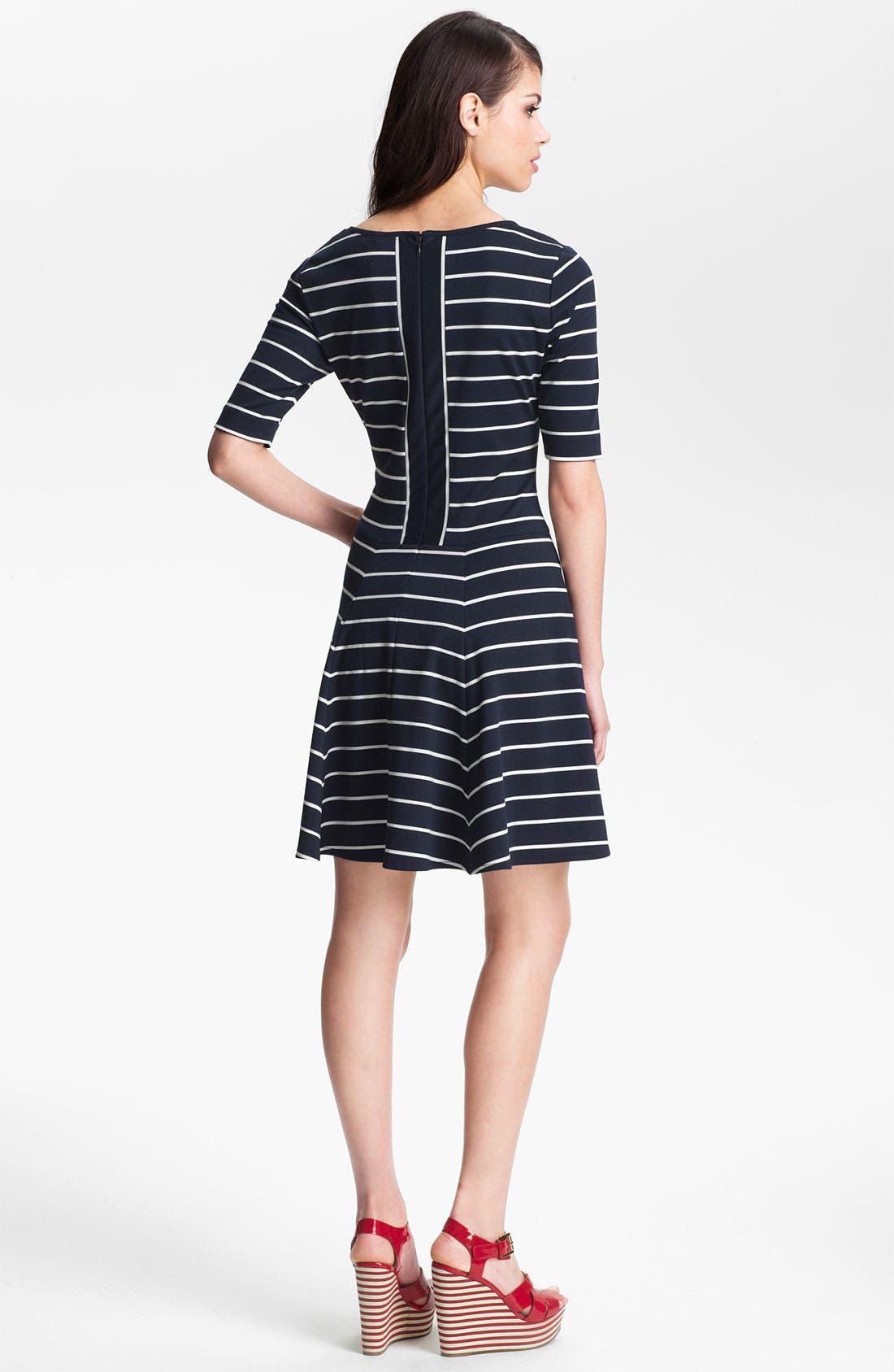 Alternate Image 2  - Eliza J Stripe Fit & Flare Dress