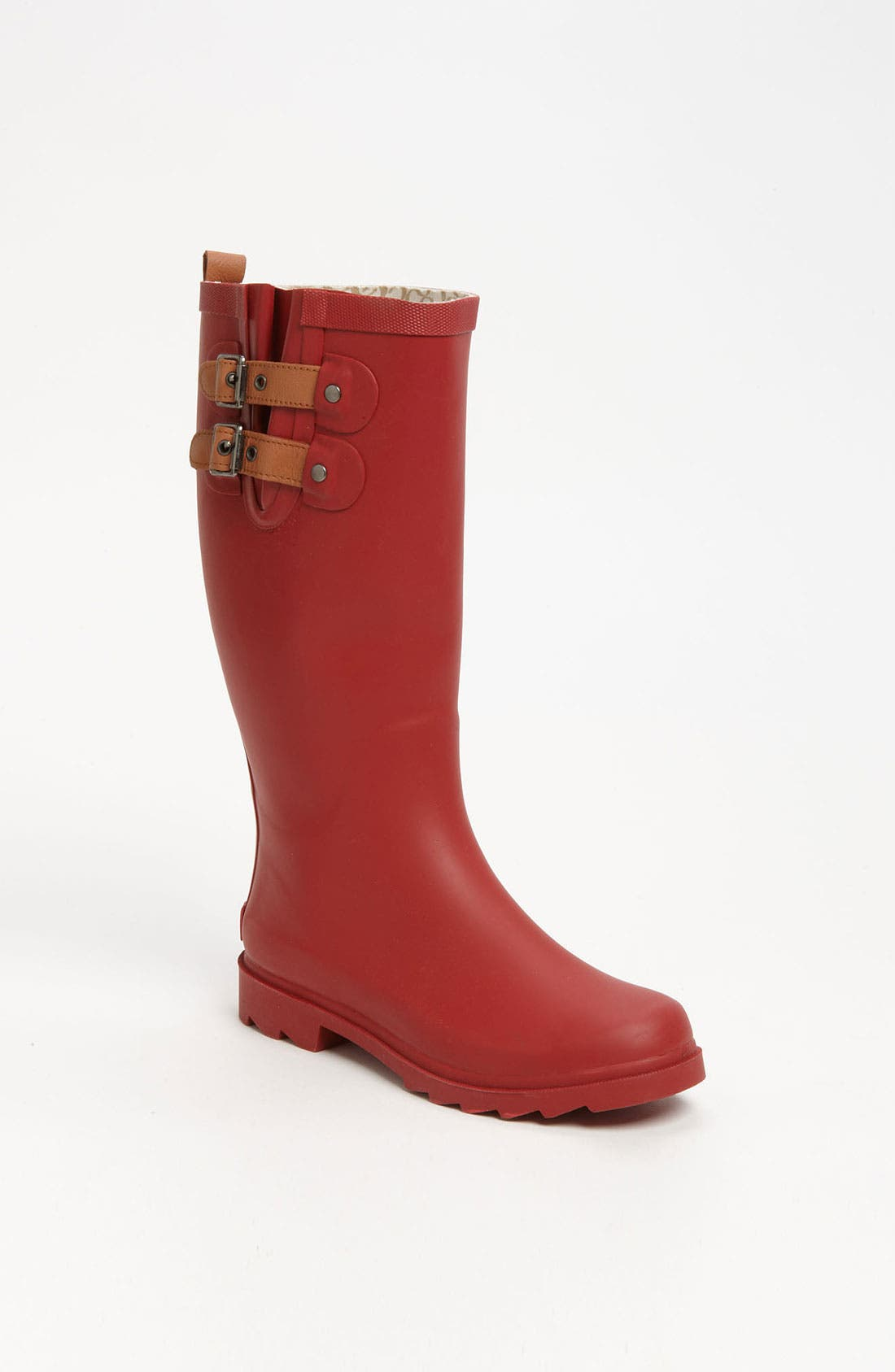 'Top Solid' Rain Boot,                             Main thumbnail 1, color,                             Red