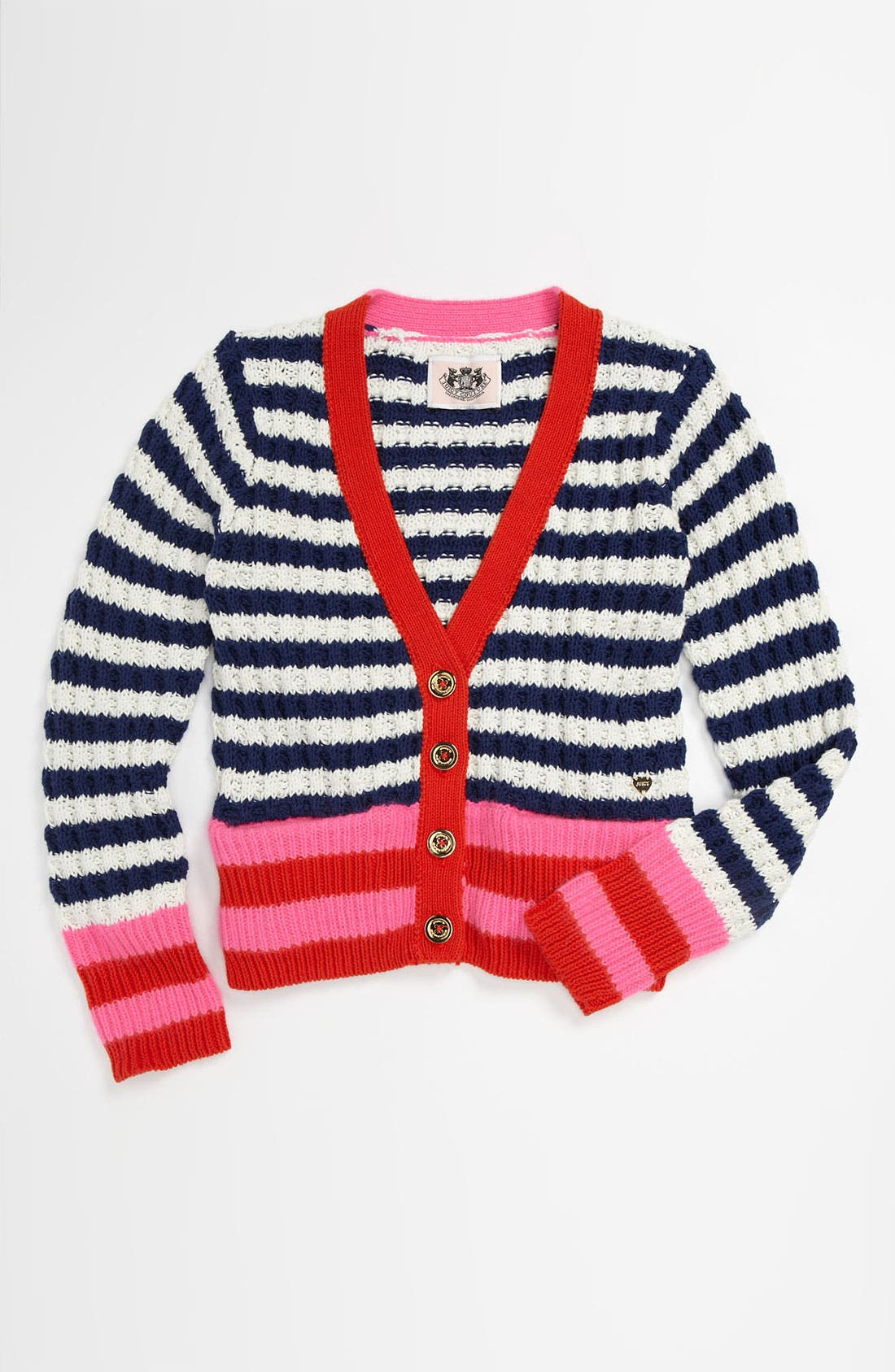 Main Image - Juicy Couture Button Cardigan (Little Girls & Big Girls)