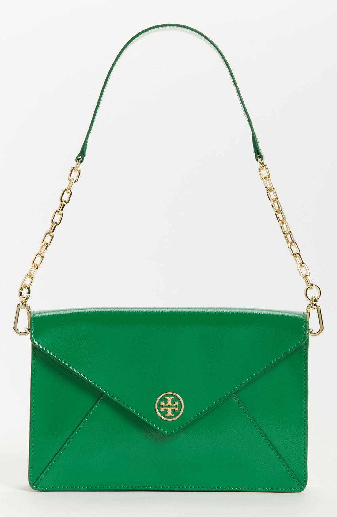 Main Image - Tory Burch 'Robinson' Patent Saffiano Leather Envelope Clutch
