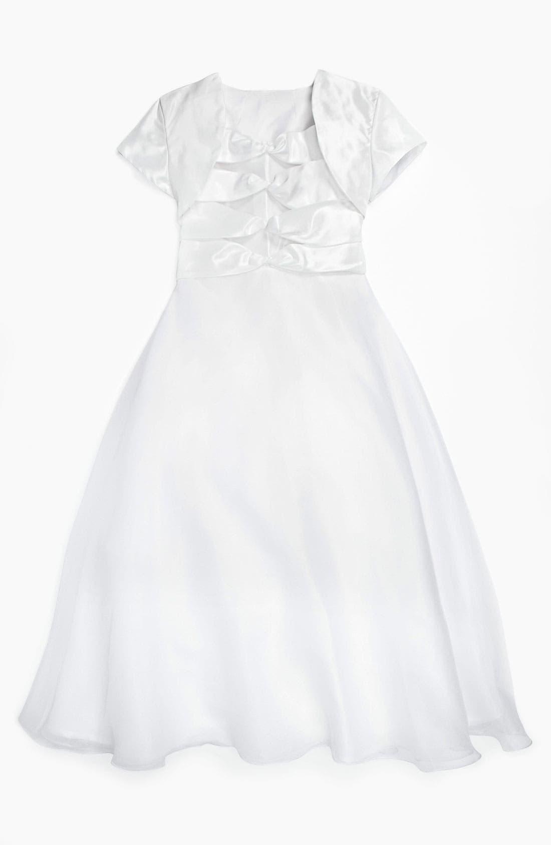 Alternate Image 3  - Joan Calabrese for Mon Cheri Taffeta Dress & Bolero (Little Girls & Big Girls)