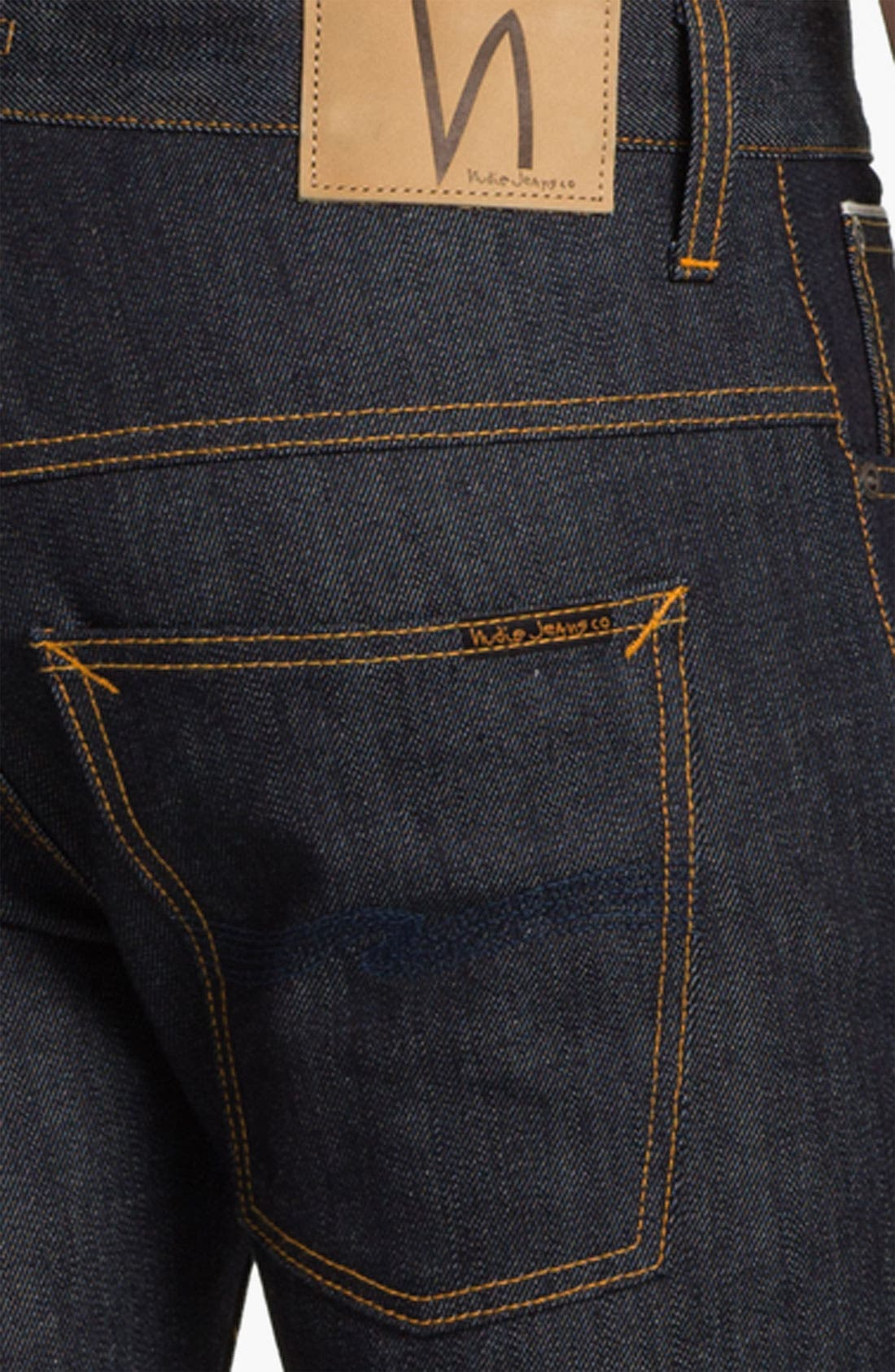 Alternate Image 4  - Nudie 'Thin Finn' Slim Skinny Leg Jeans (Organic Dry Heavy Selvedge)
