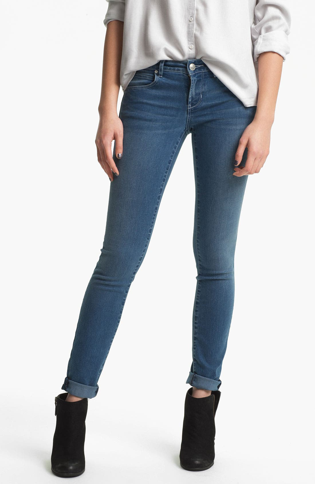 Main Image - Articles of Society 'Mya' Skinny Jeans (Atlantic) (Juniors)
