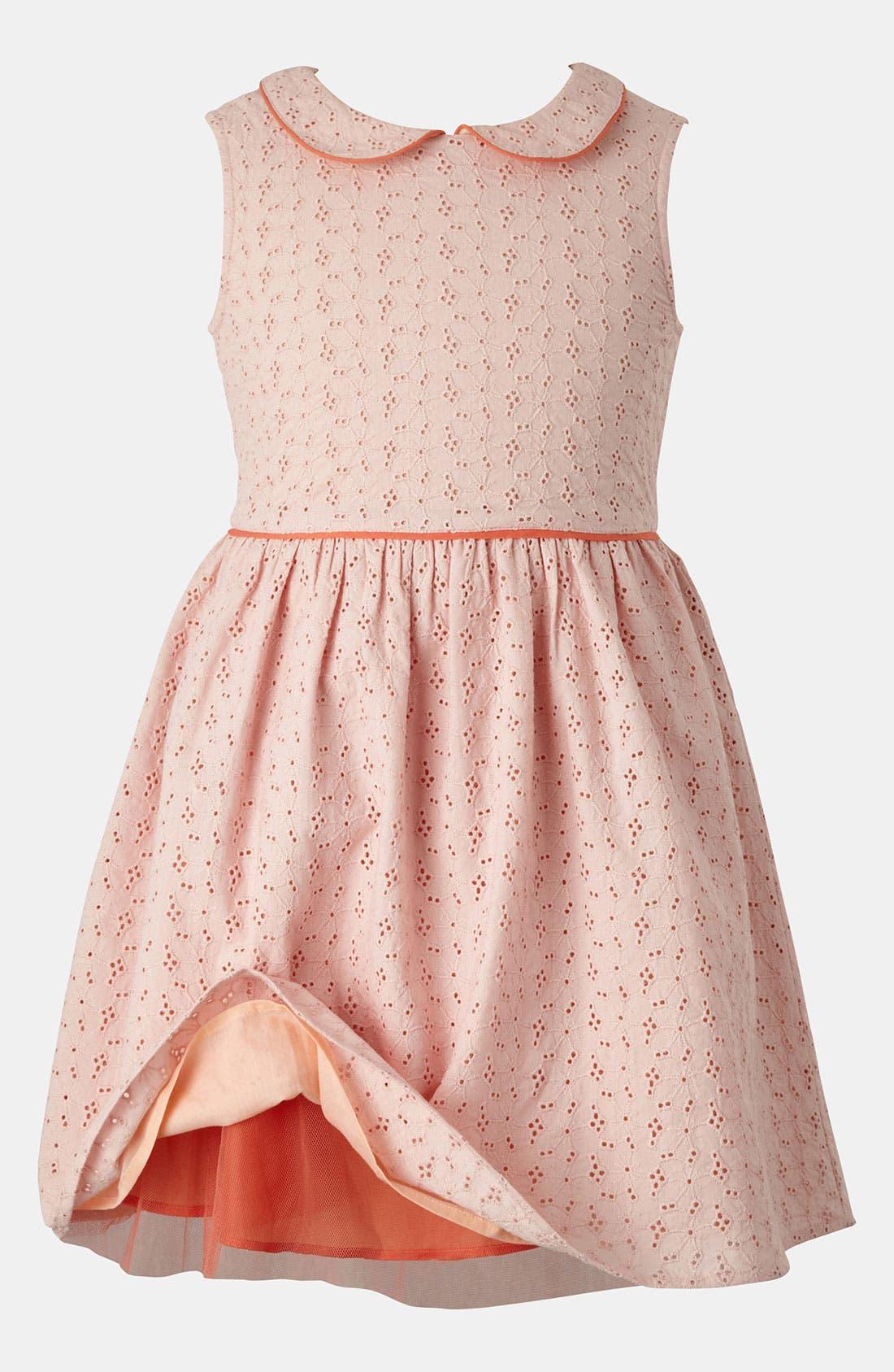 Alternate Image 1 Selected - Mini Boden Eyelet Dress (Little Girls & Big Girls)