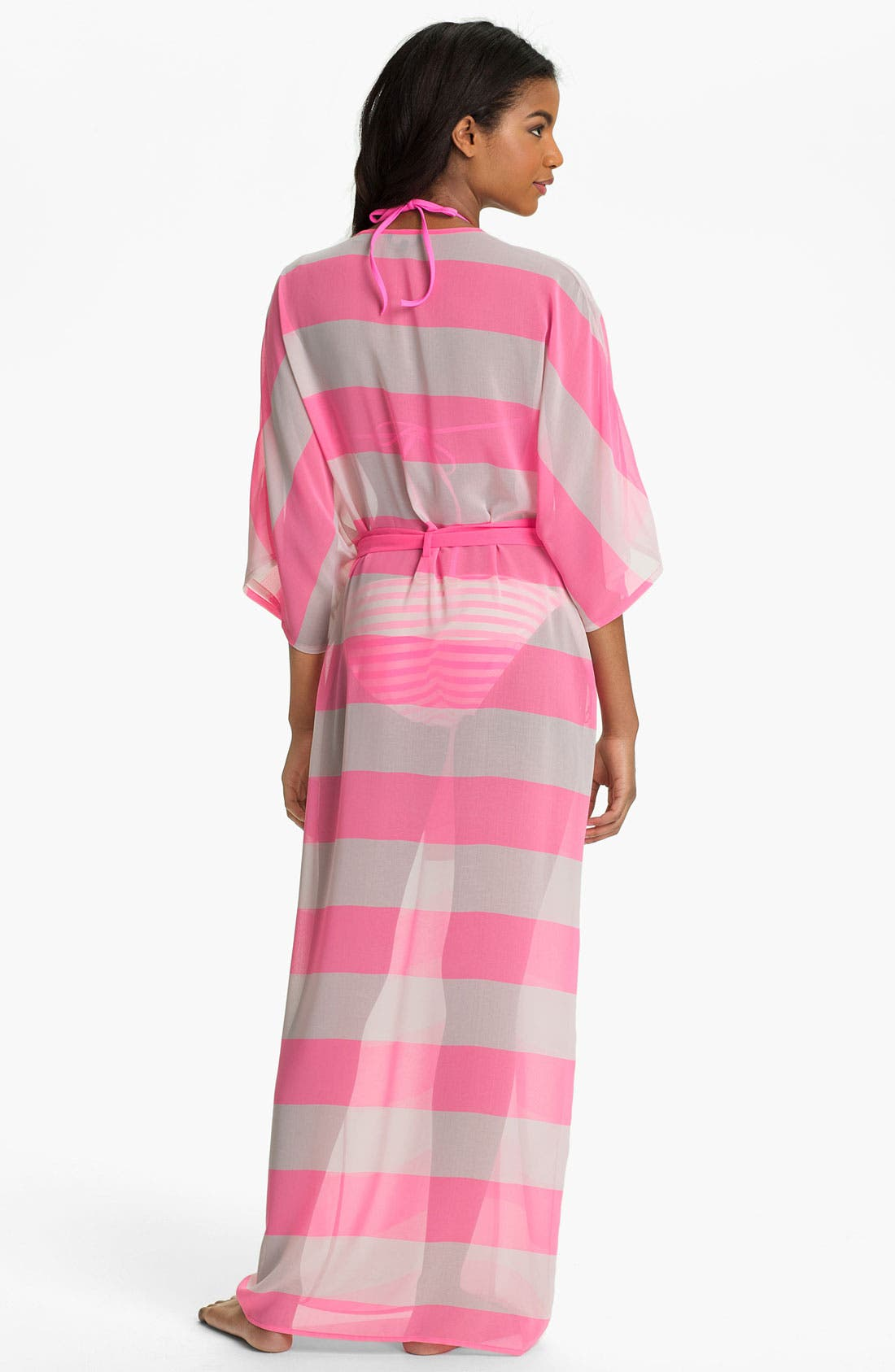 Alternate Image 2  - Ted Baker London 'Neon Stripe' Long Wrap Cover-Up