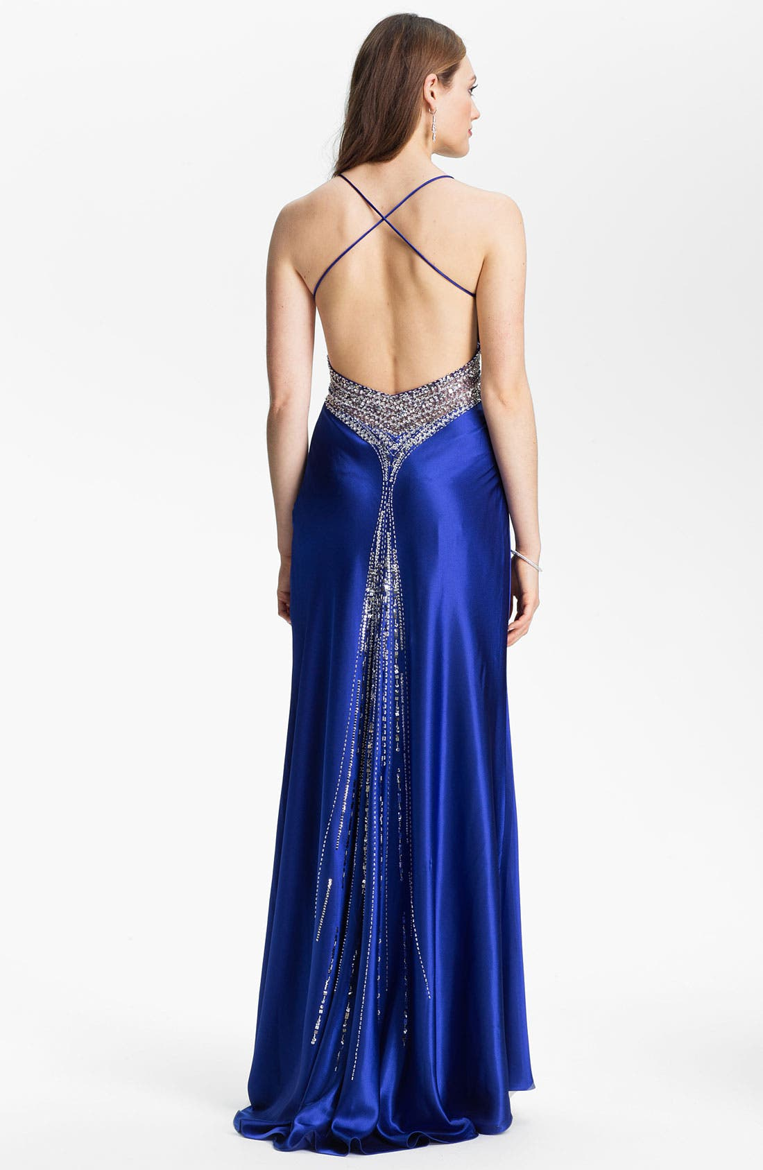 Alternate Image 2  - Sean Collection Embellished Charmeuse Gown (Online Exclusive)