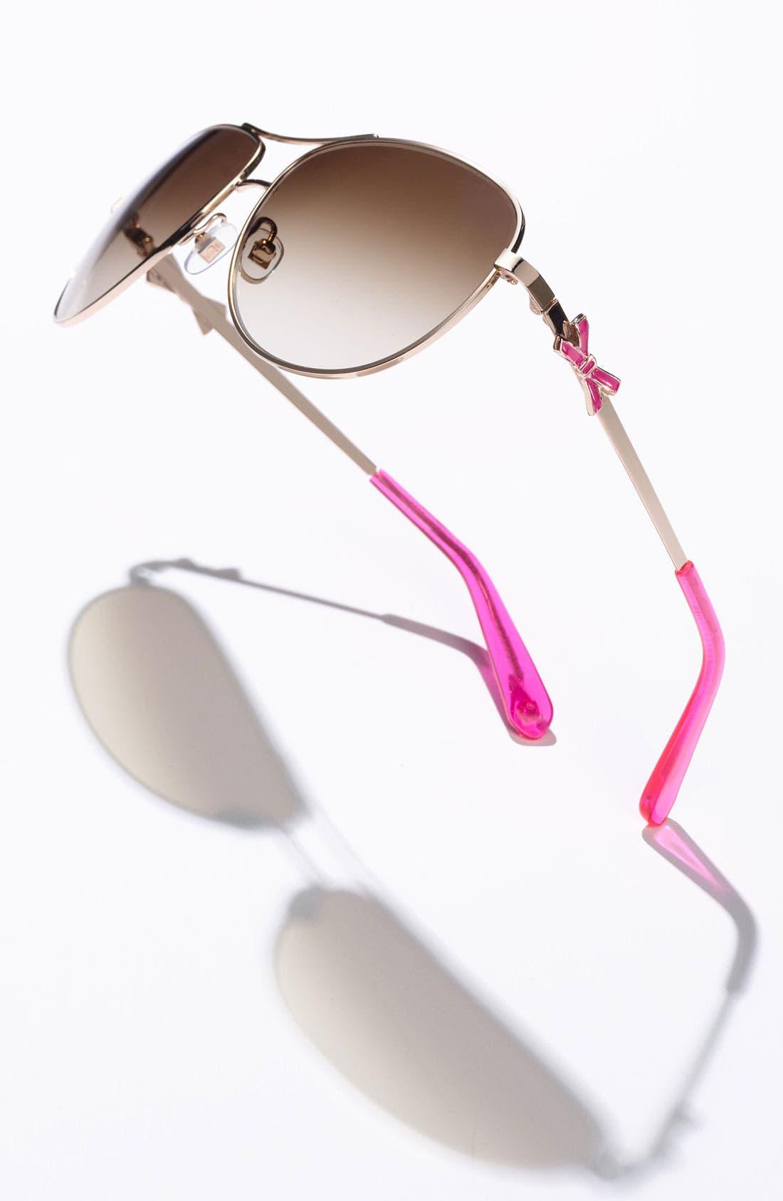 Alternate Image 2  - kate spade new york 'circe' 59mm metal aviator sunglasses