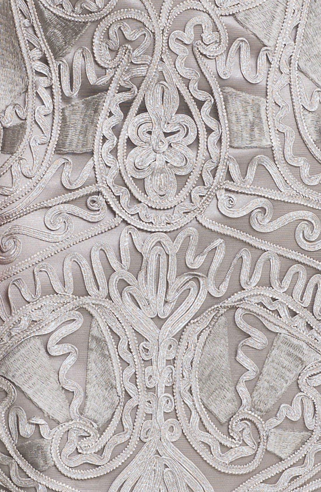 Alternate Image 4  - Sue Wong Embroidered V-Neck Sheath Dress