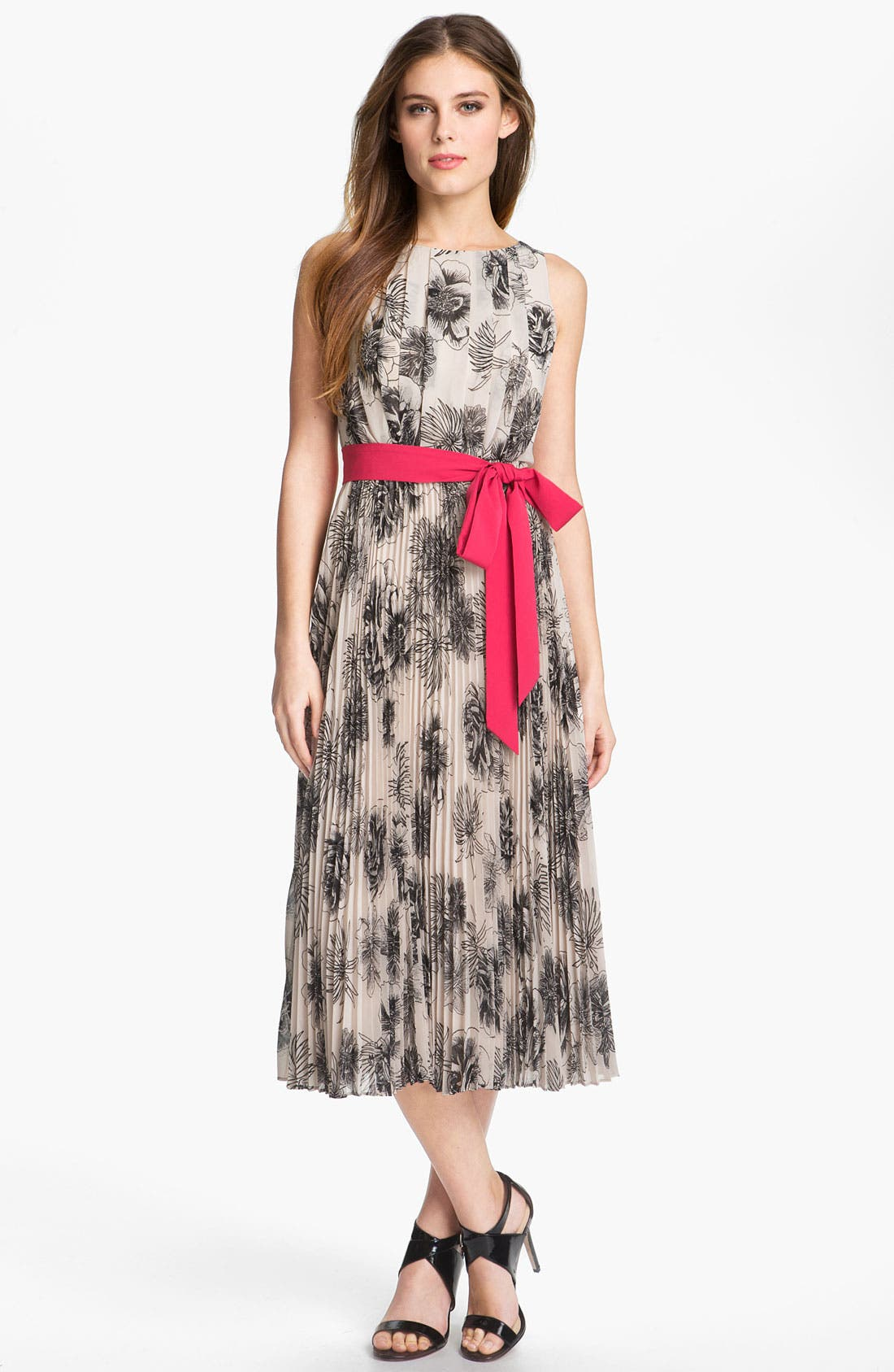 Alternate Image 1 Selected - Eliza J Pleated Print Dress