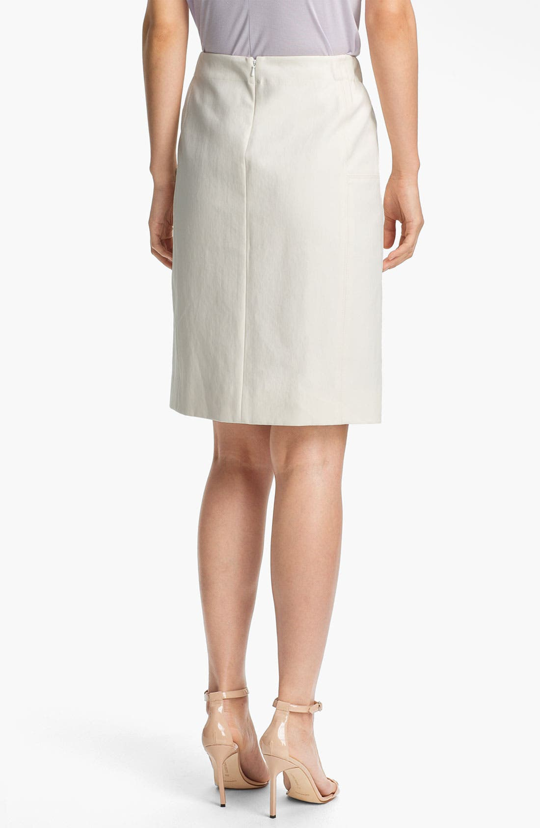 Alternate Image 2  - Halston Heritage Leather Panel Pencil Skirt