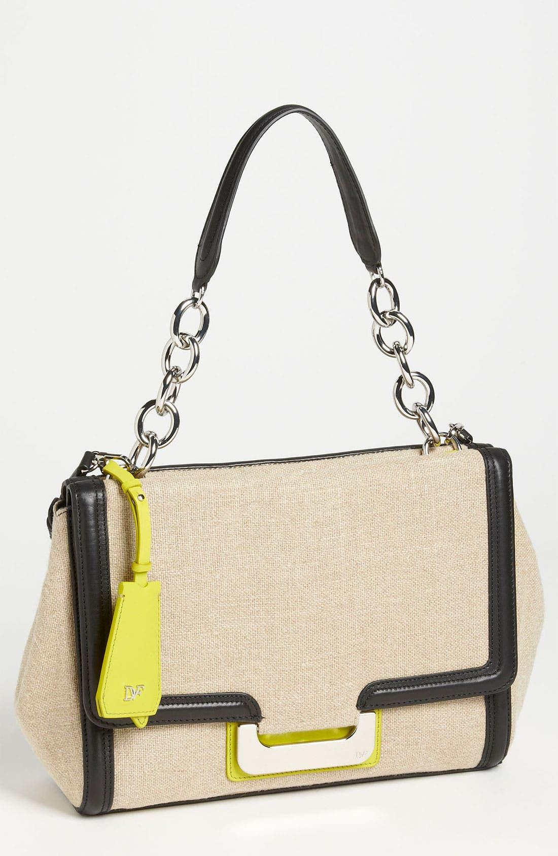 Alternate Image 1 Selected - Diane von Furstenberg 'New Harper' Linen Shoulder Bag