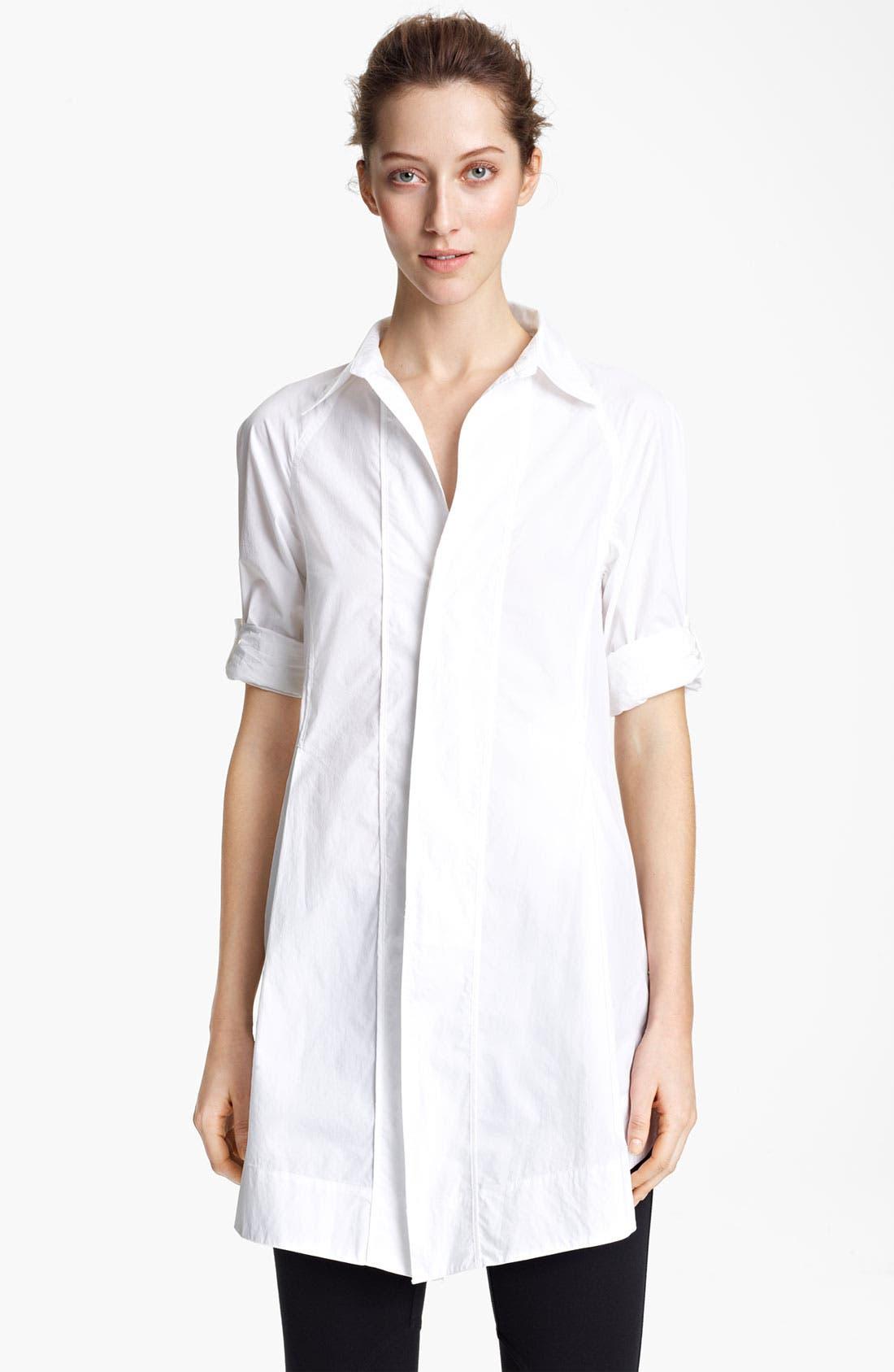 Alternate Image 1 Selected - Donna Karan Collection Cotton Poplin Boyfriend Shirt