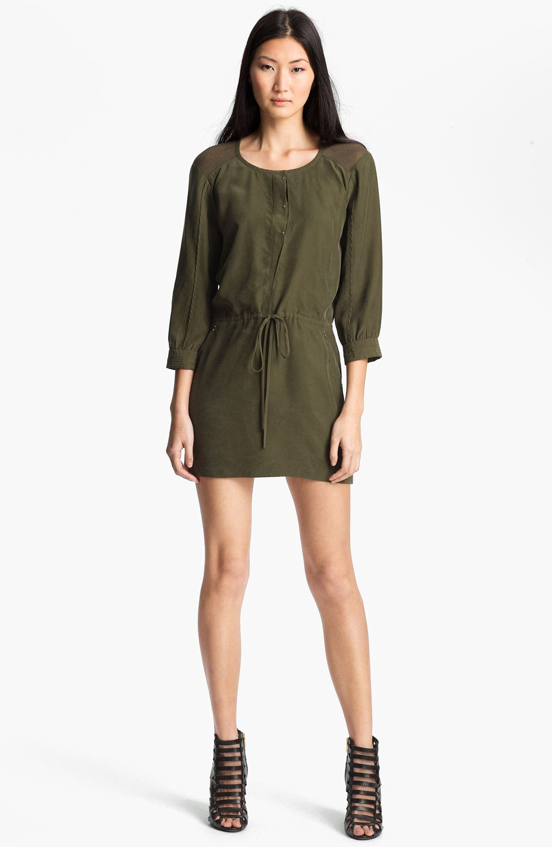 Alternate Image 1 Selected - Edun Mesh Back Silk Dress
