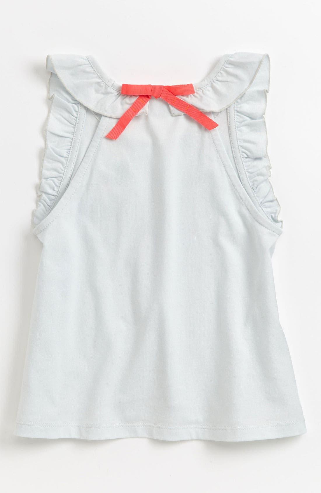 Alternate Image 2  - Chloé Ruffle Sleeve Tank Top (Toddler, Little Girls & Big Girls)