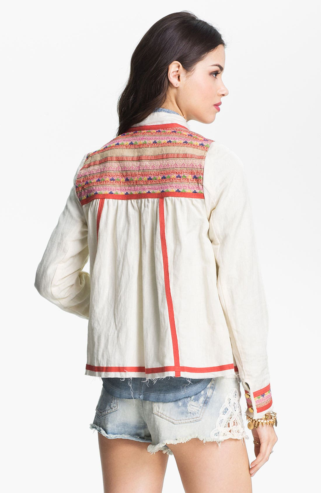 Alternate Image 2  - Free People 'Prairie' Embroidered Swing Jacket