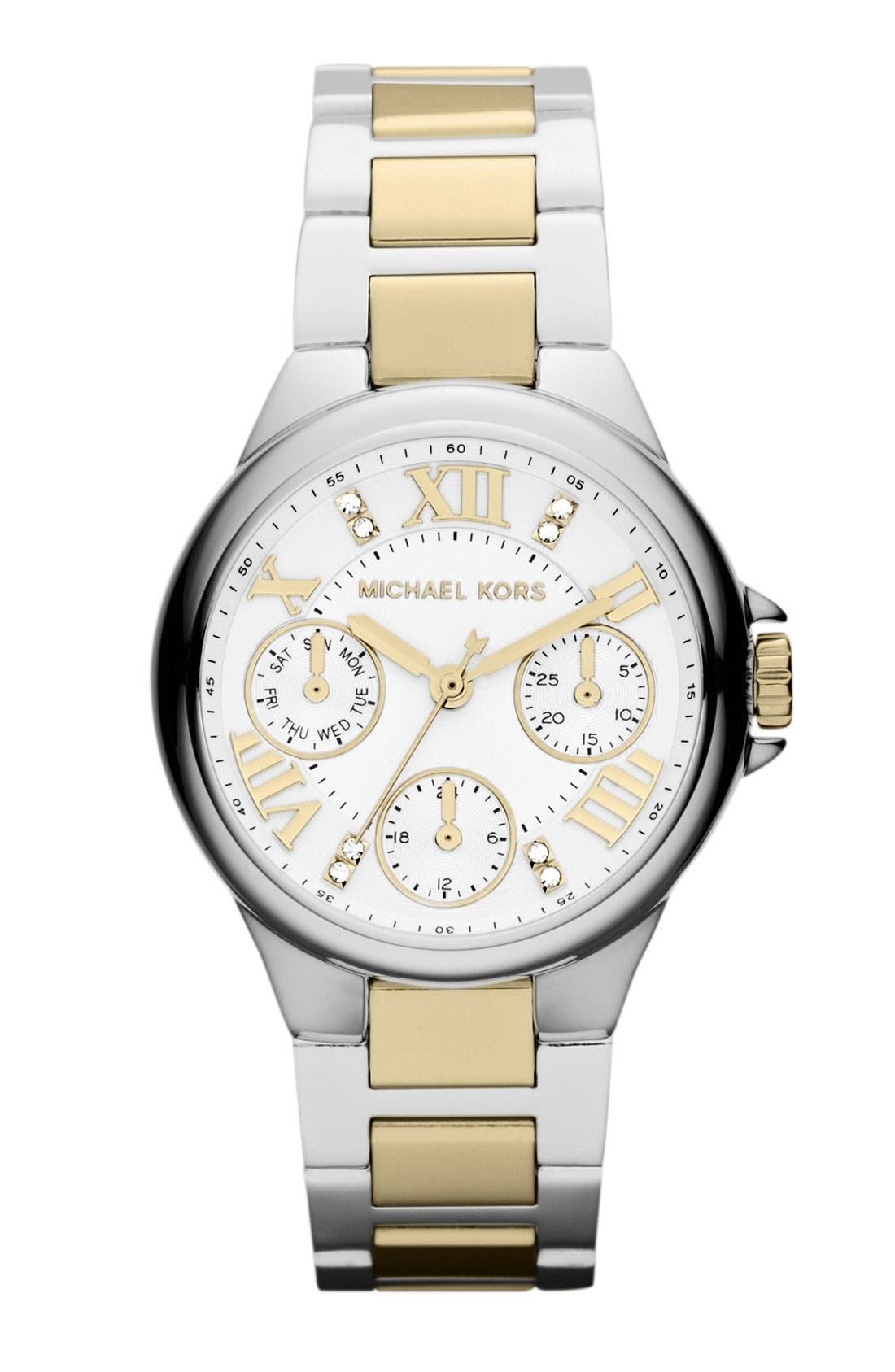 Alternate Image 1 Selected - Michael Kors 'Mini Camille' Bracelet Watch, 33mm
