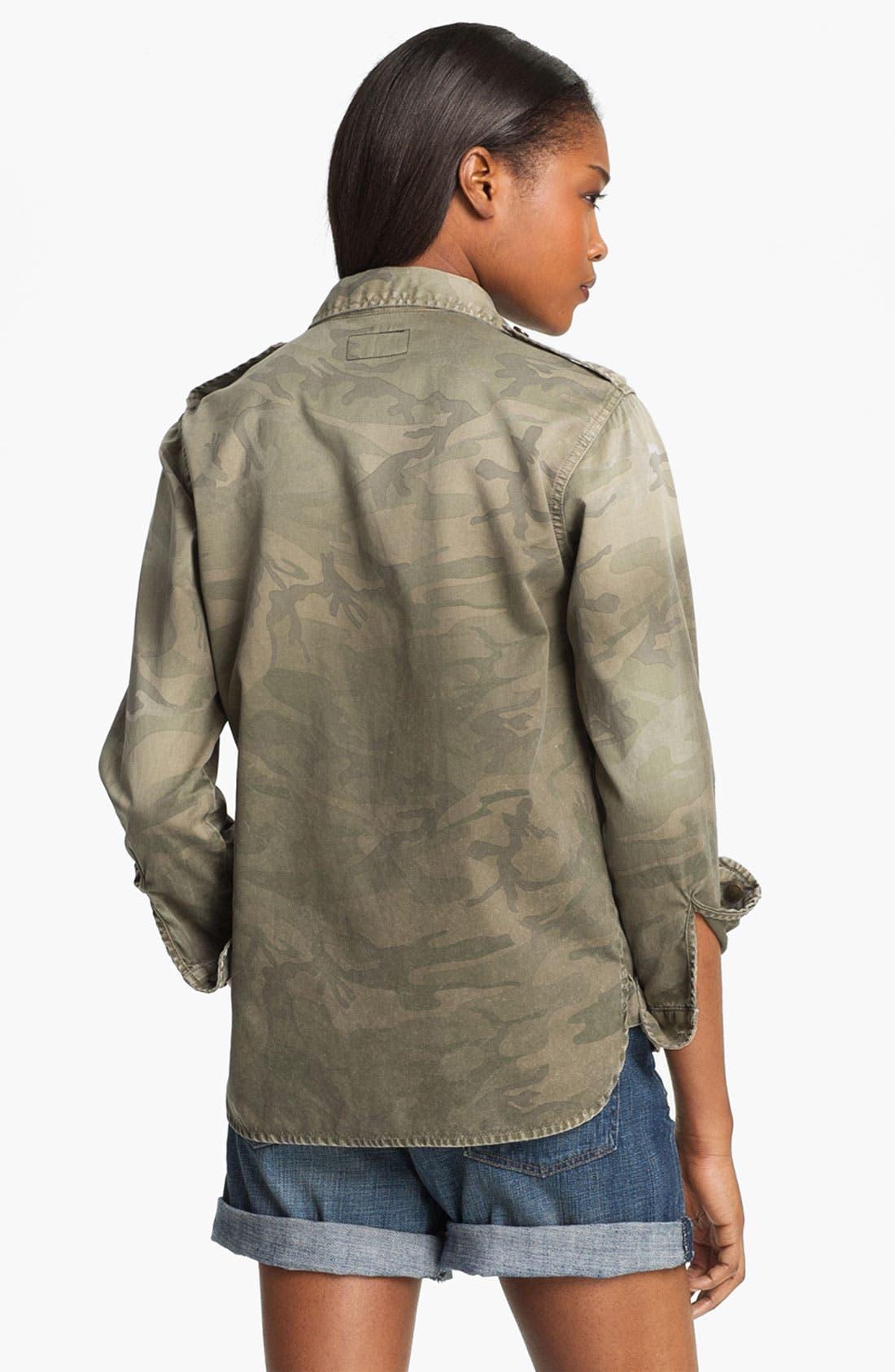 'Perfect Shirt' Camo Shirt,                             Alternate thumbnail 3, color,                             Army Camo
