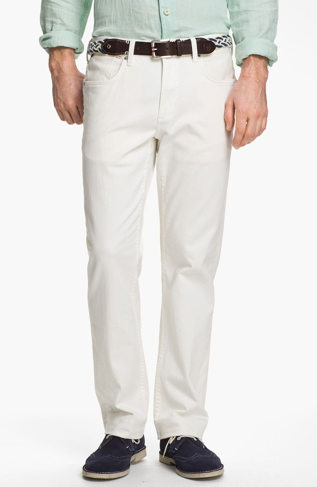 Main Image - Tommy Bahama Denim Authentic Fit Jeans (White)