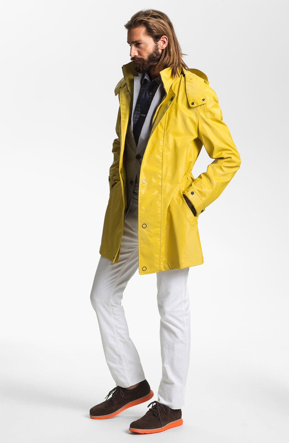Alternate Image 4  - HUGO 'Marinus' Rain Coat (Online Exclusive)