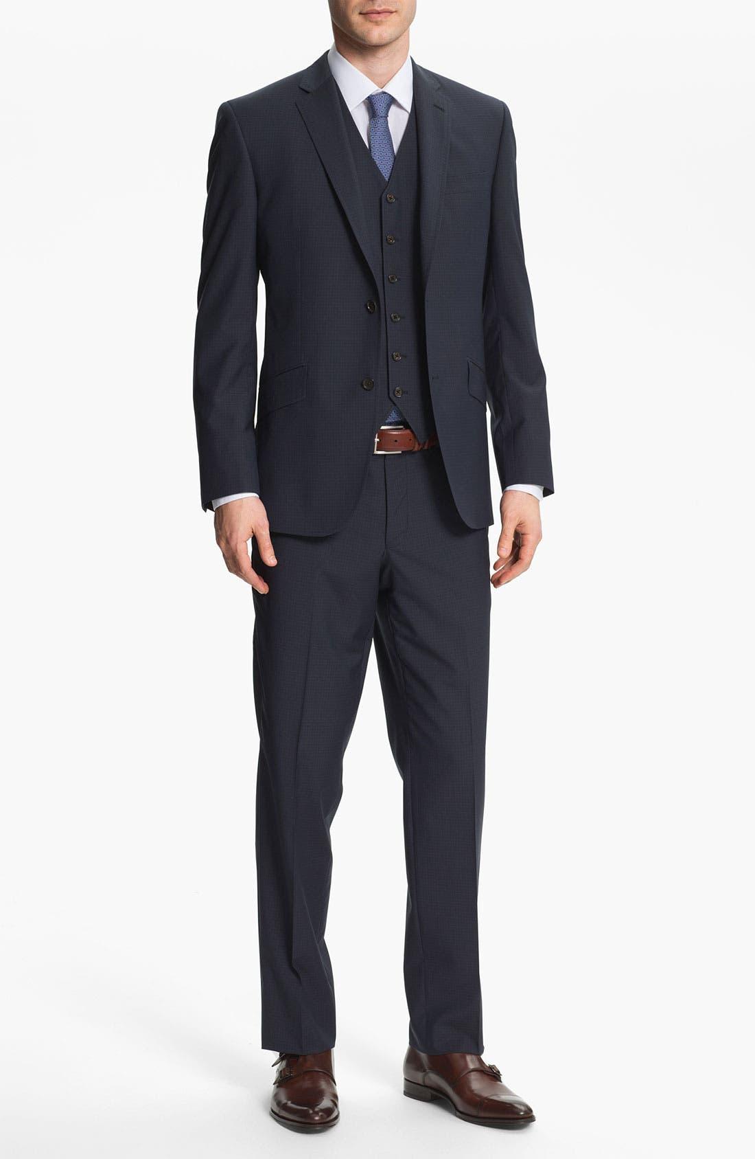 Alternate Image 2  - Ted Baker London Trim Fit Three Piece Suit