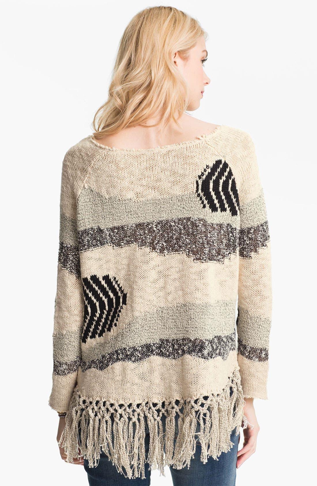 Alternate Image 2  - Free People 'Landscape' Fringed Sweater