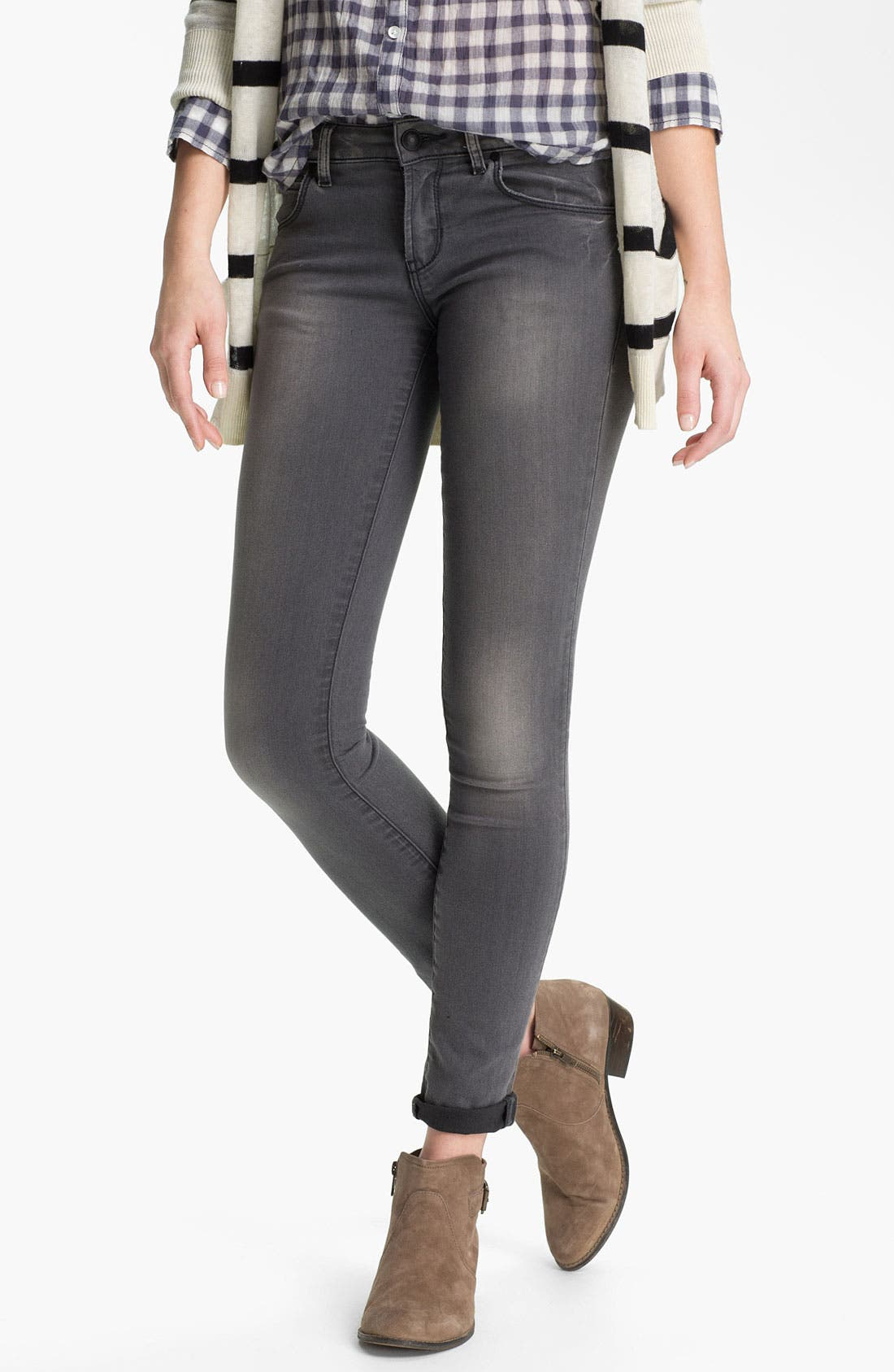 Alternate Image 1 Selected - Articles of Society 'Mya' Skinny Jeans (Greyson) (Juniors)
