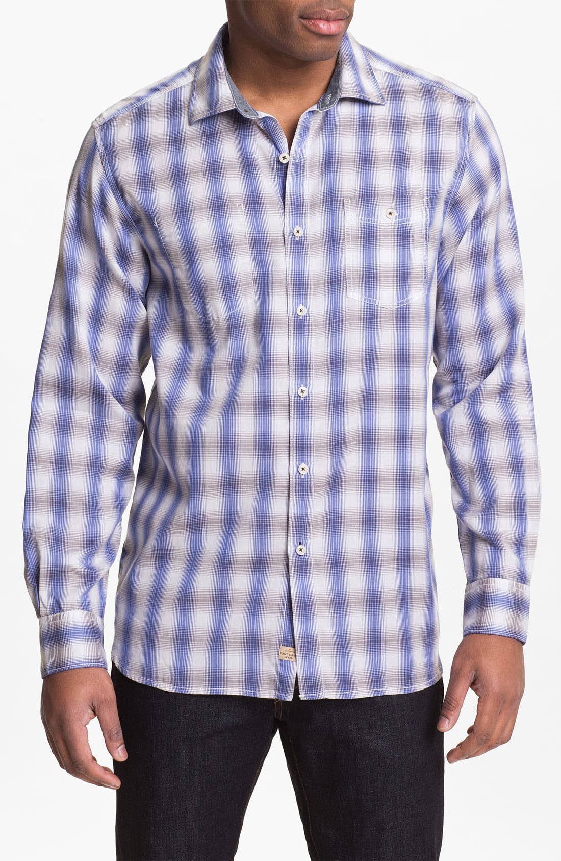 Alternate Image 1 Selected - Tommy Bahama 'San Pancho Plaid' Island Modern Fit Sport Shirt