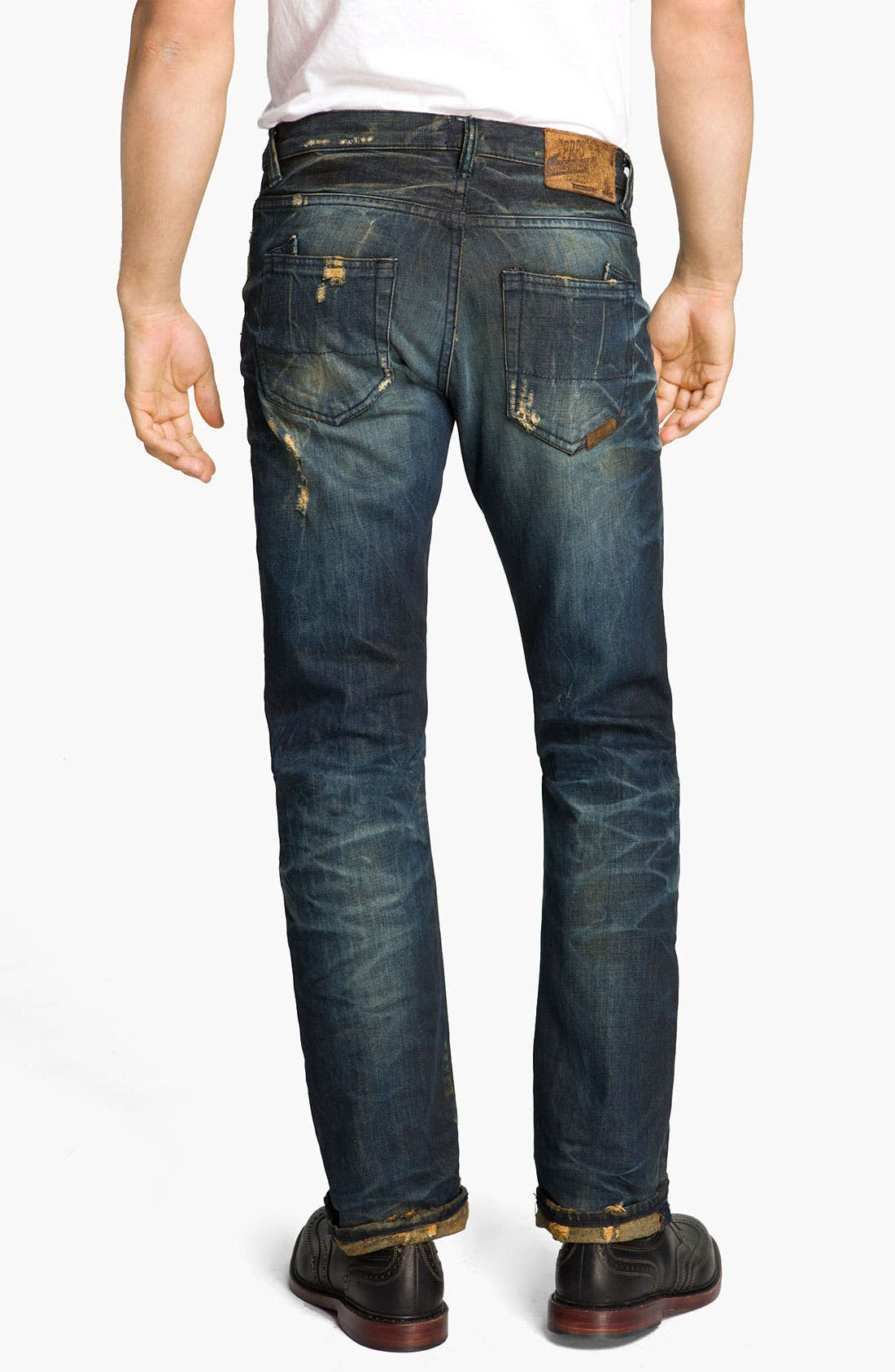 Alternate Image 1 Selected - PRPS 'Barracuda Tiger's Nest' Straight Leg Jeans (Indigo)