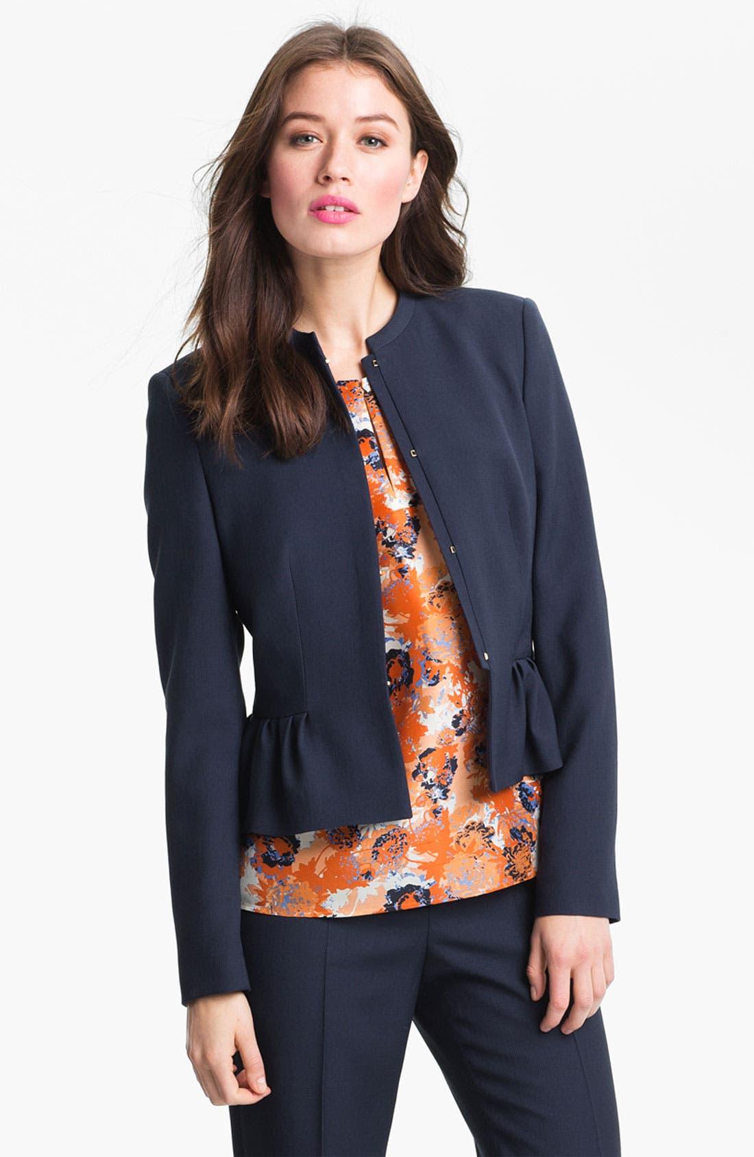 Alternate Image 1 Selected - BOSS Black 'Jeisa' Wool Jacket
