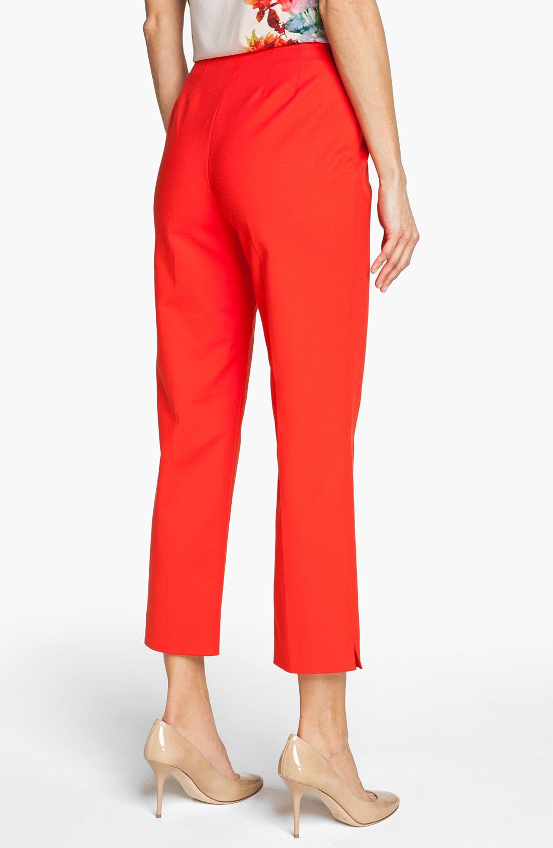 Alternate Image 4  - St. John Yellow Label 'Audrey' Double Weave Stretch Cotton Capri Pants