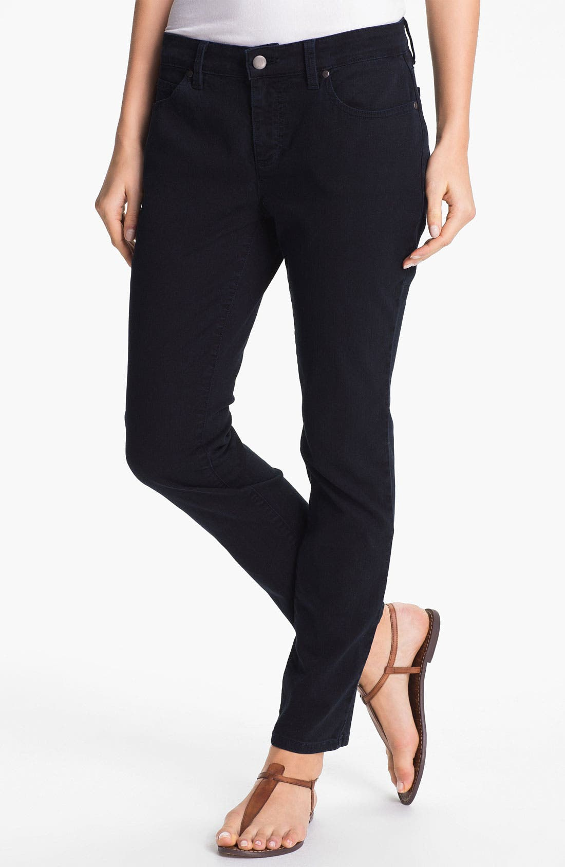 Alternate Image 1 Selected - Eileen Fisher Skinny Ankle Jeans (Online Only)