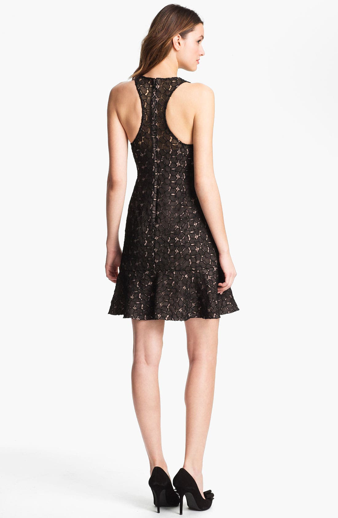 Alternate Image 2  - Adrianna Papell Racerback Lace Dress