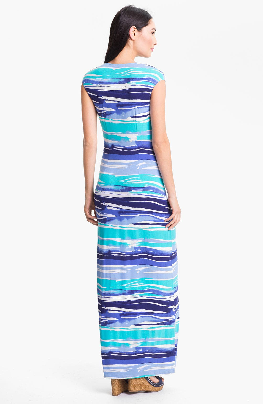 'Rising Tide' Maxi Dress,                             Alternate thumbnail 2, color,                             Blue Atoll