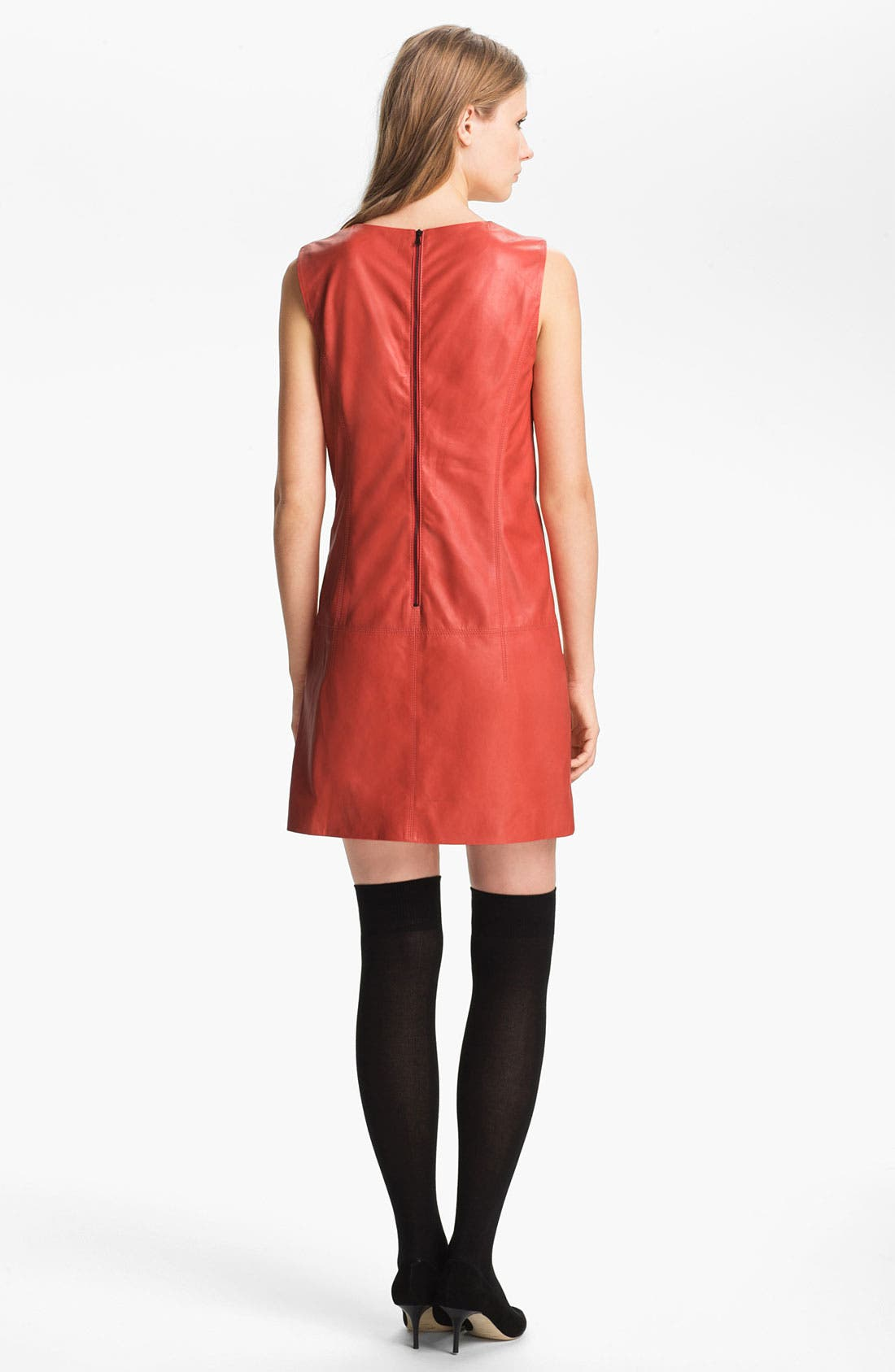 Alternate Image 2  - Miss Wu Leather Shift Dress (Nordstrom Exclusive)