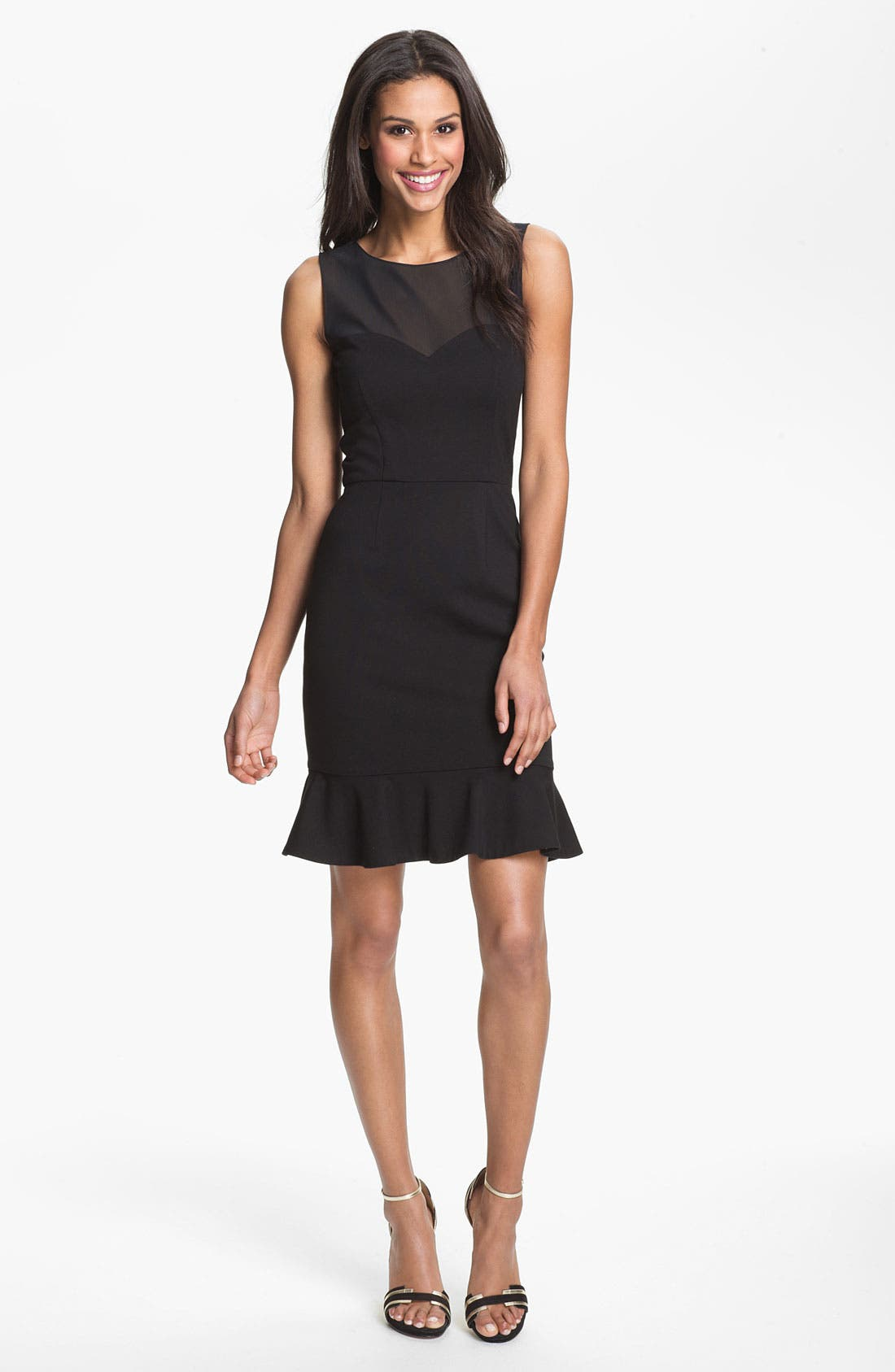 Alternate Image 1 Selected - ERIN erin fetherston Mesh Yoke Sheath Dress