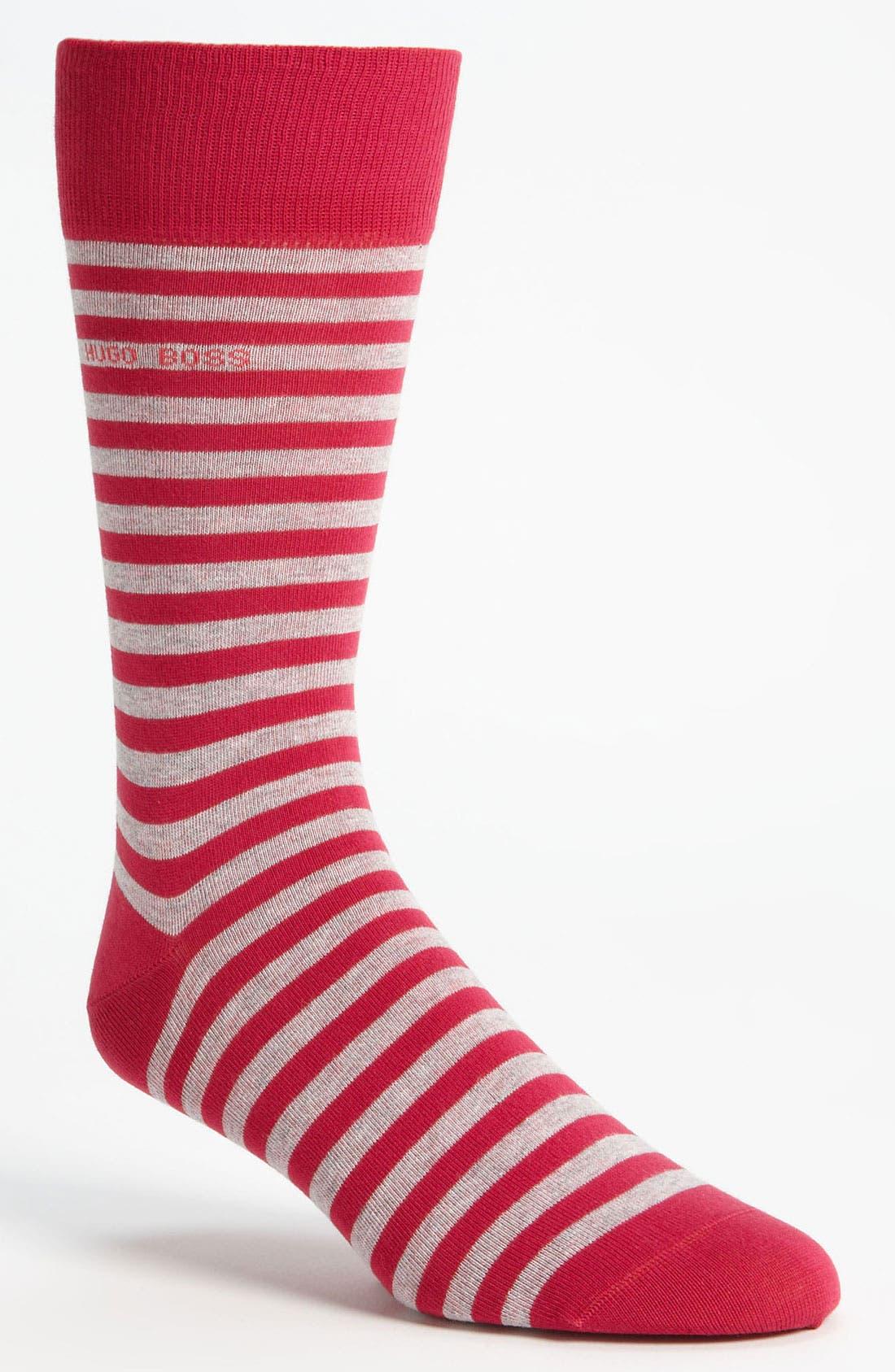 Alternate Image 1 Selected - BOSS HUGO BOSS 'Marc' Stripe Socks