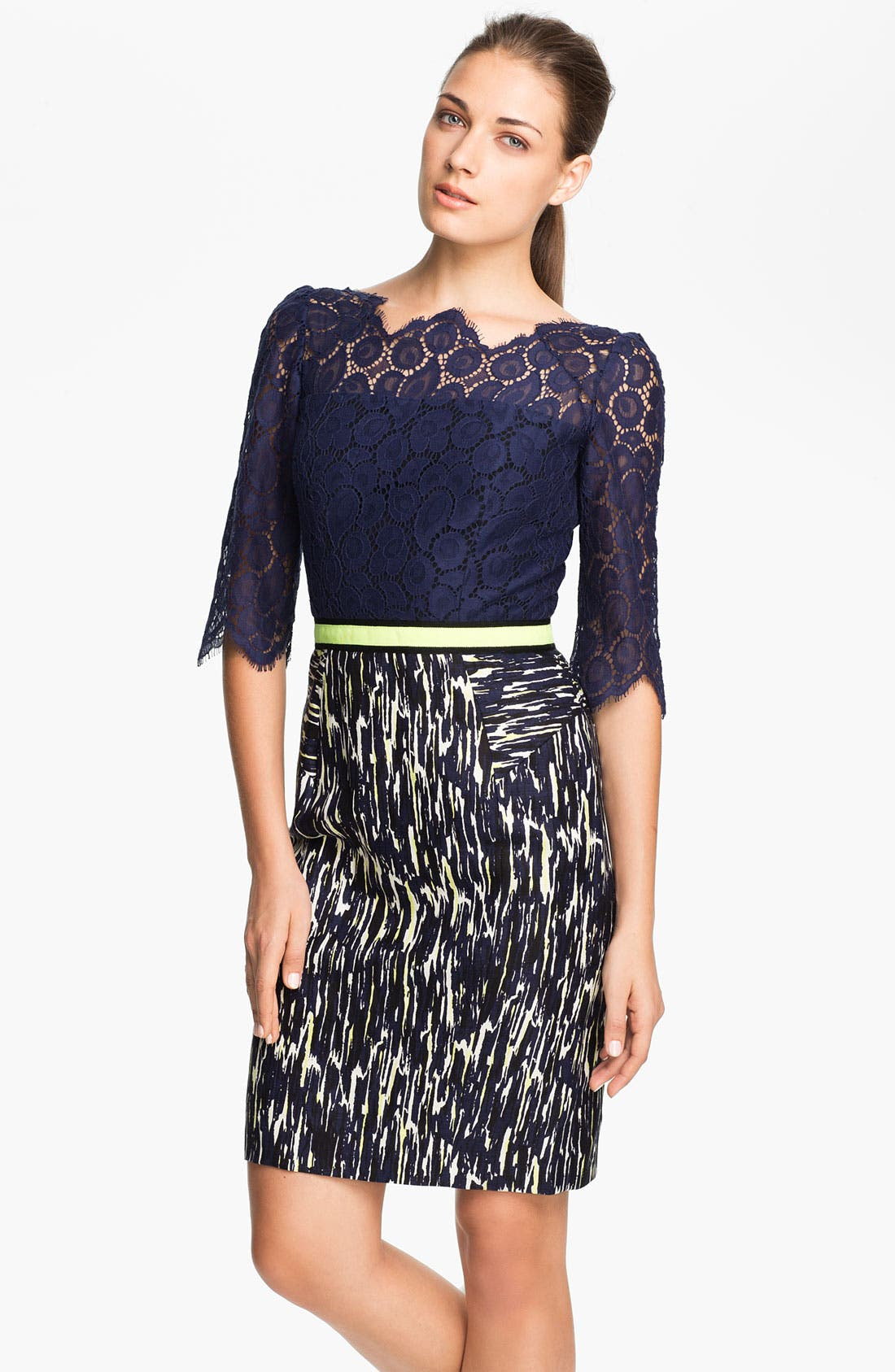 Main Image - Milly Linen Blend Sheath Dress