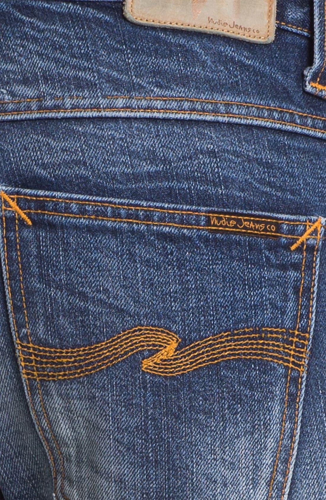 Alternate Image 4  - Nudie 'Average Joe' Straight Leg Jeans (Organic Fine Contrast)