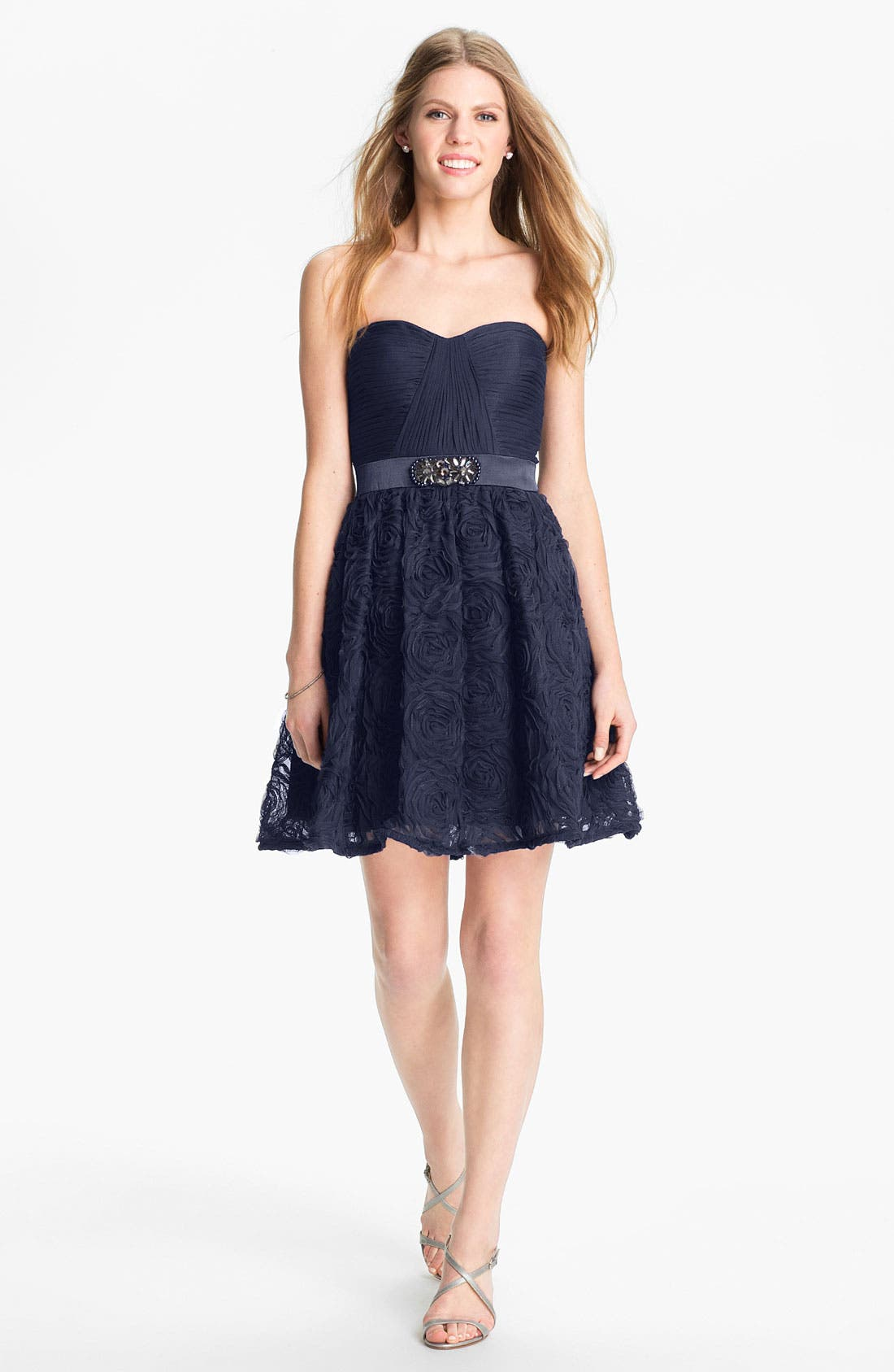 Alternate Image 1 Selected - Adrianna Papell Strapless Tulle Dress