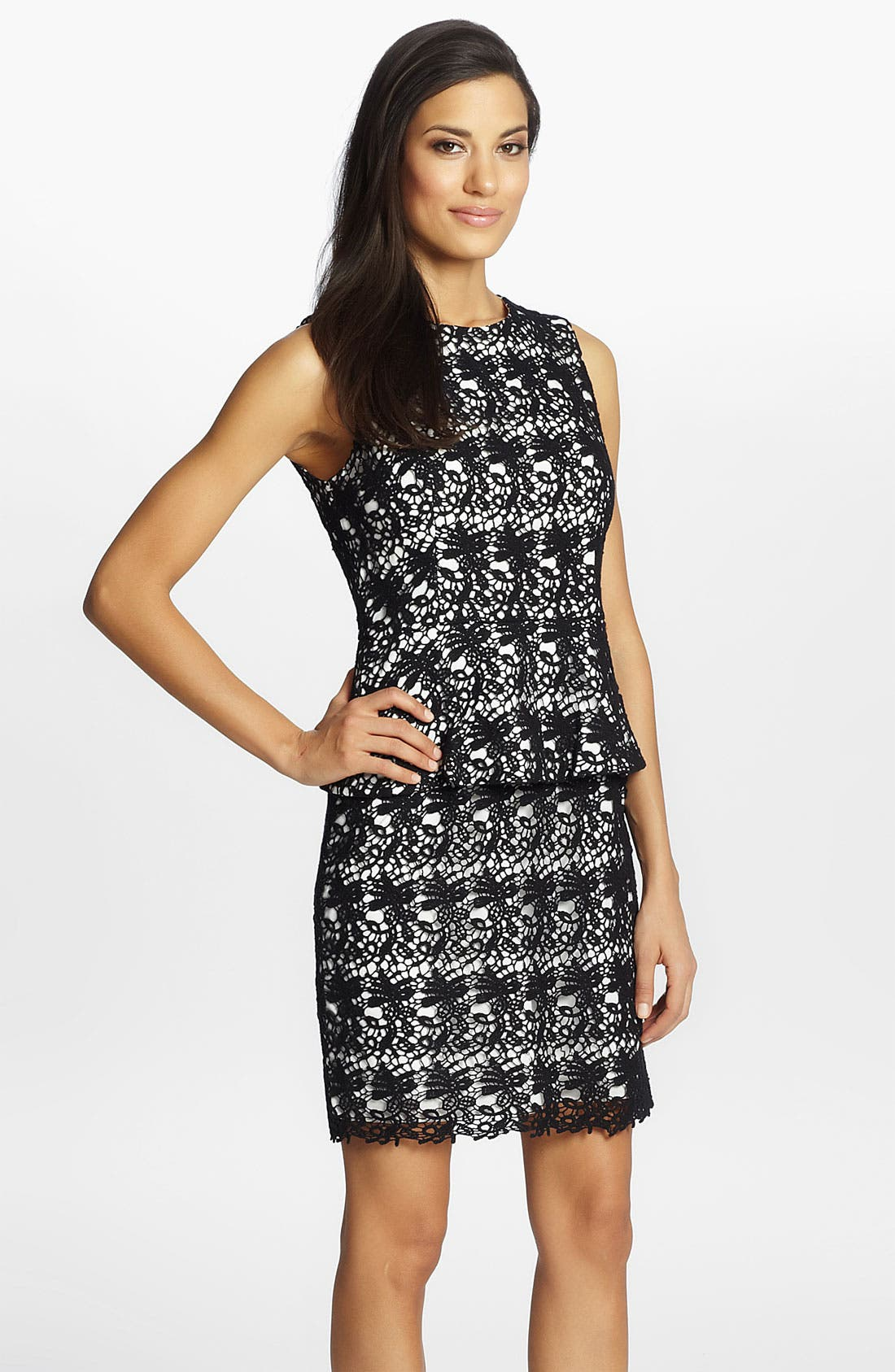 Alternate Image 1 Selected - Cynthia Steffe 'Camille' Lace Peplum Dress